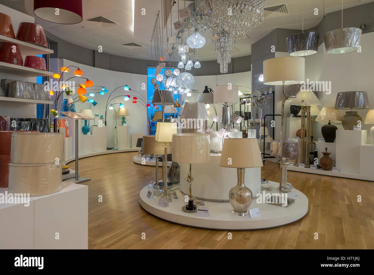 Lighting department fenwicks store canterbury kent england uk stock