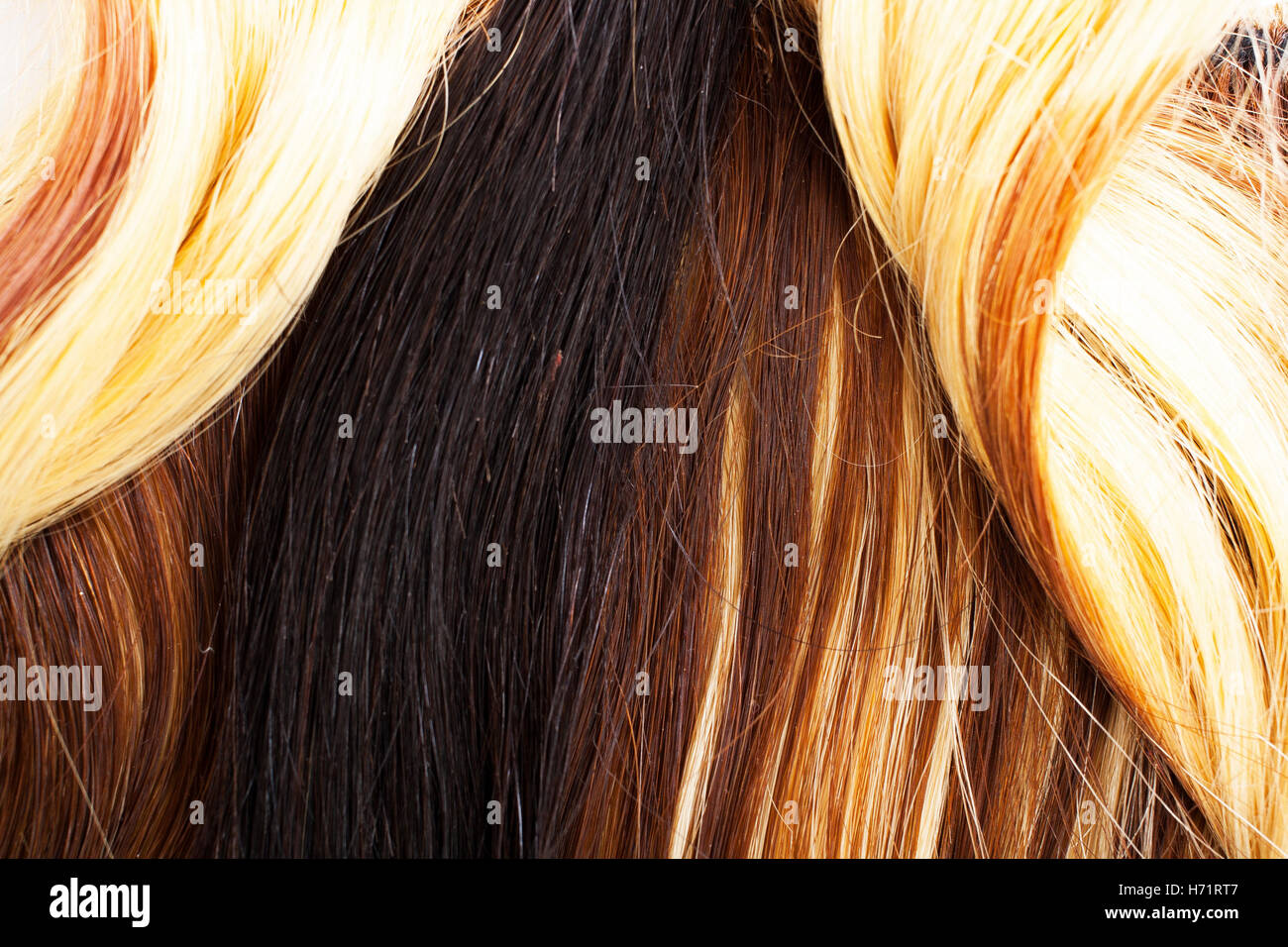 European Human Hair Extension Weft Colored Dry And Silky Hairs