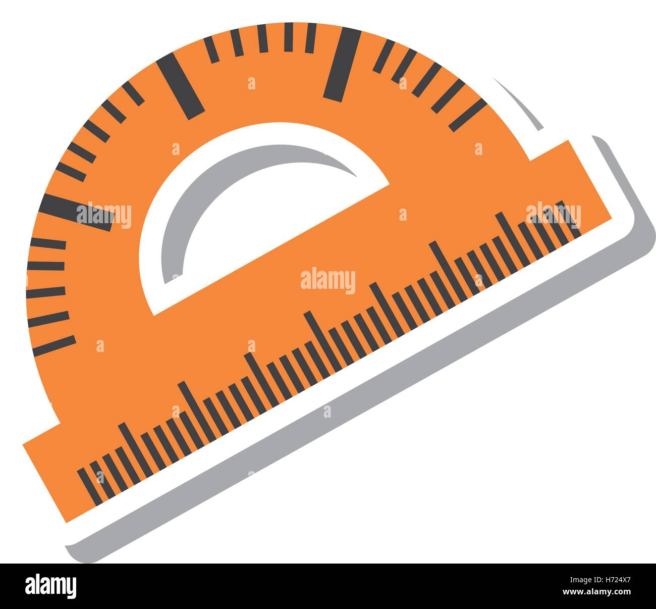 protractor rule isolated icon vector illustration design - Stock Vector