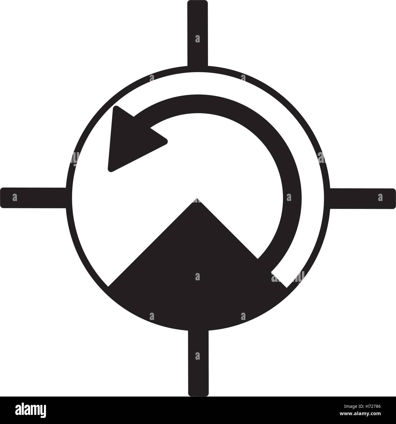 pressure gauge isolated icon vector illustration design - Stock Vector