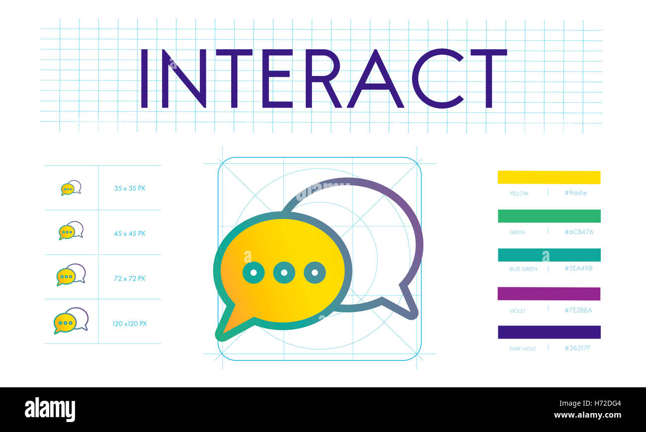Interact Trends Connection Discussion Concept - Stock Image