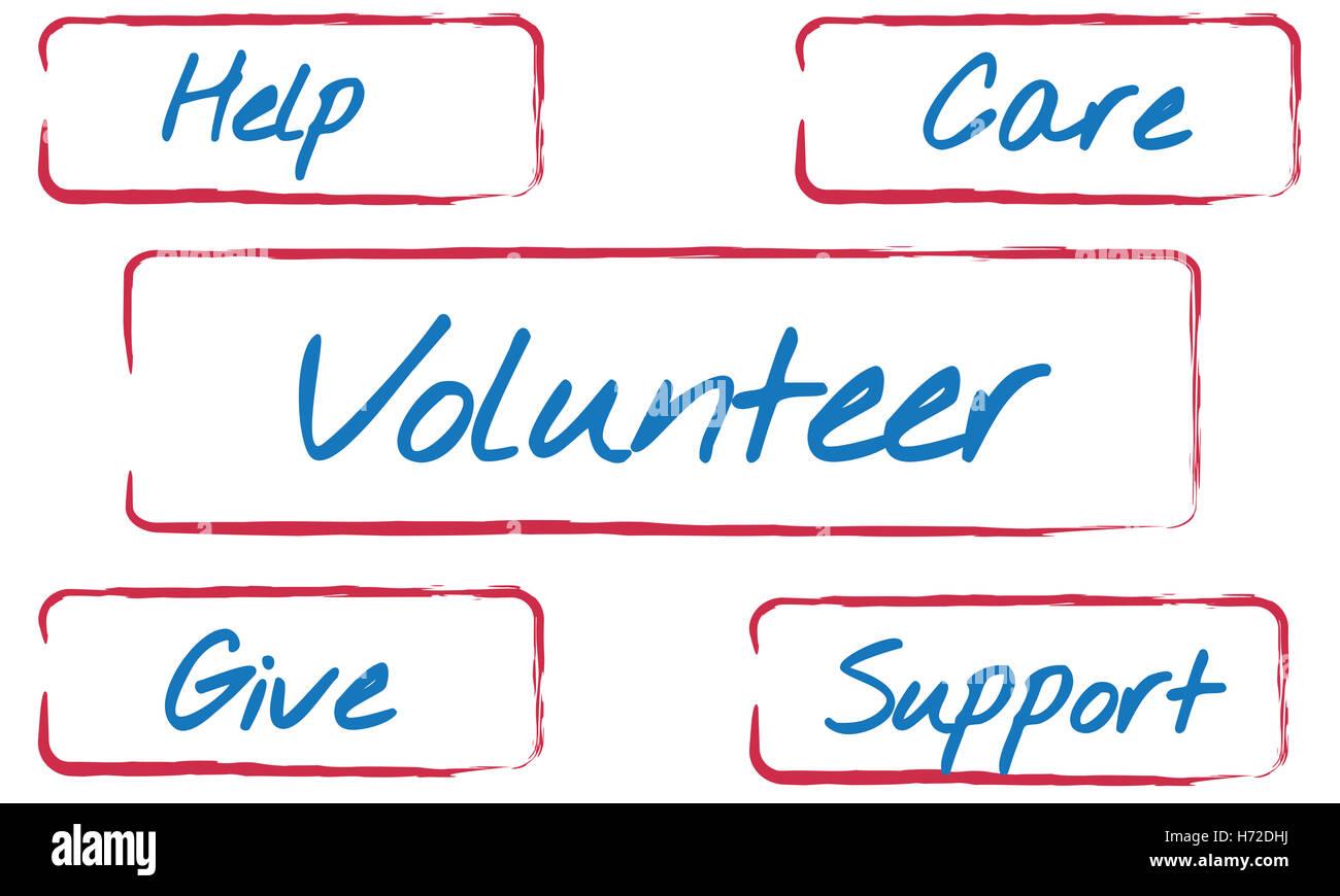 Community Donations Fundraising Volunteer Concept - Stock Image