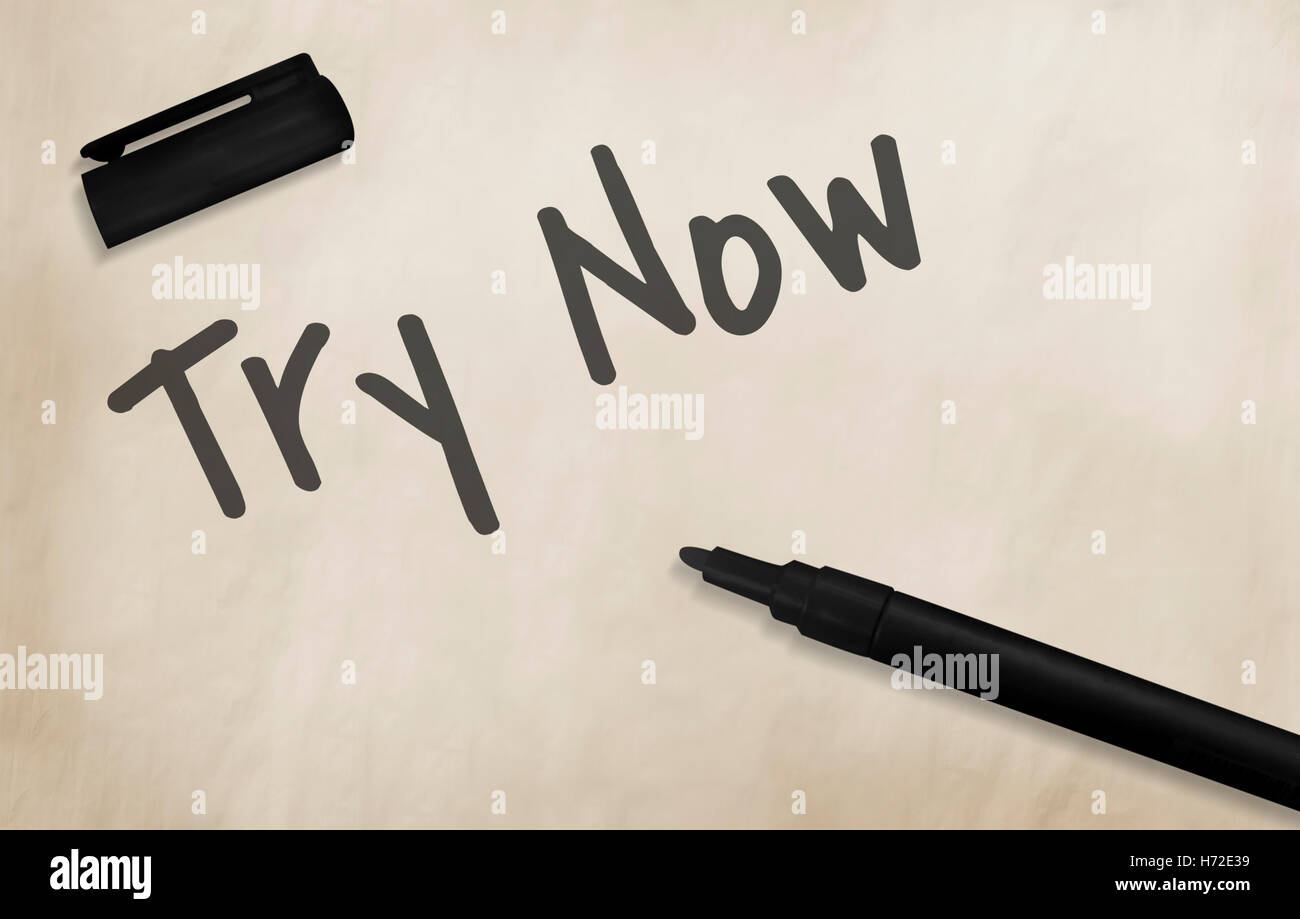 Try Now New Things Concept - Stock Image