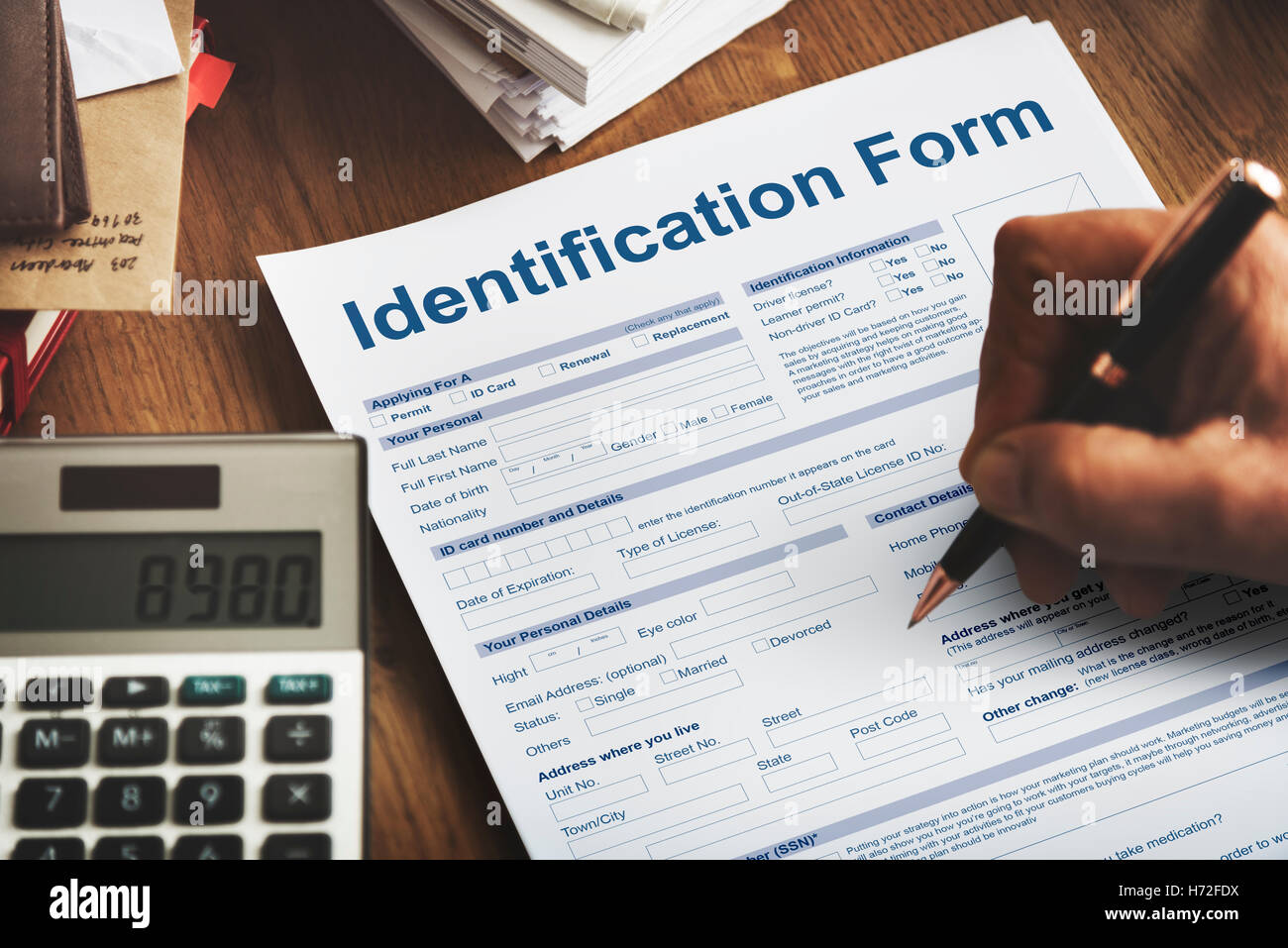 Identification Form Name Individuality Personality Concept - Stock Image