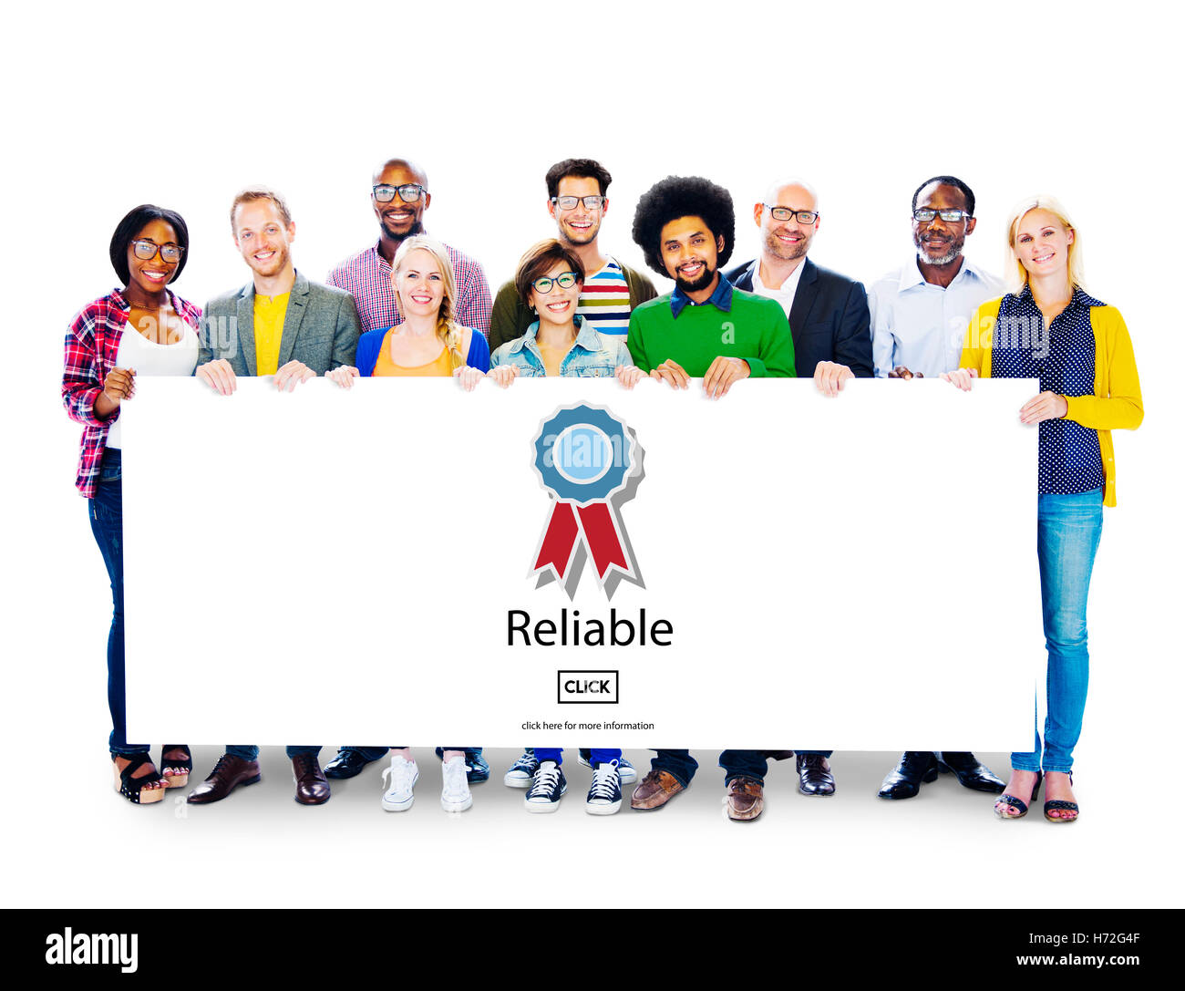 Reliable Commitment Consistency Dependable Concept - Stock Image
