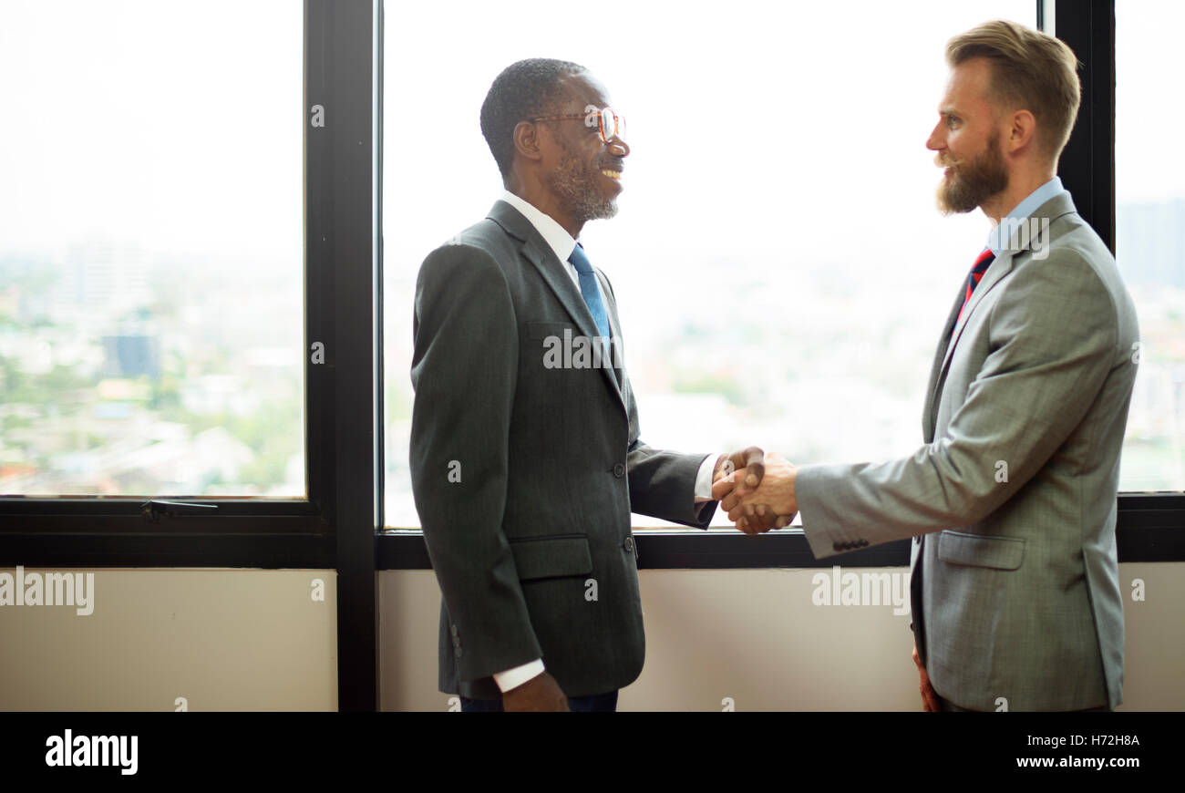 Handshake Commitment Partnership Colleagues Concept - Stock Image