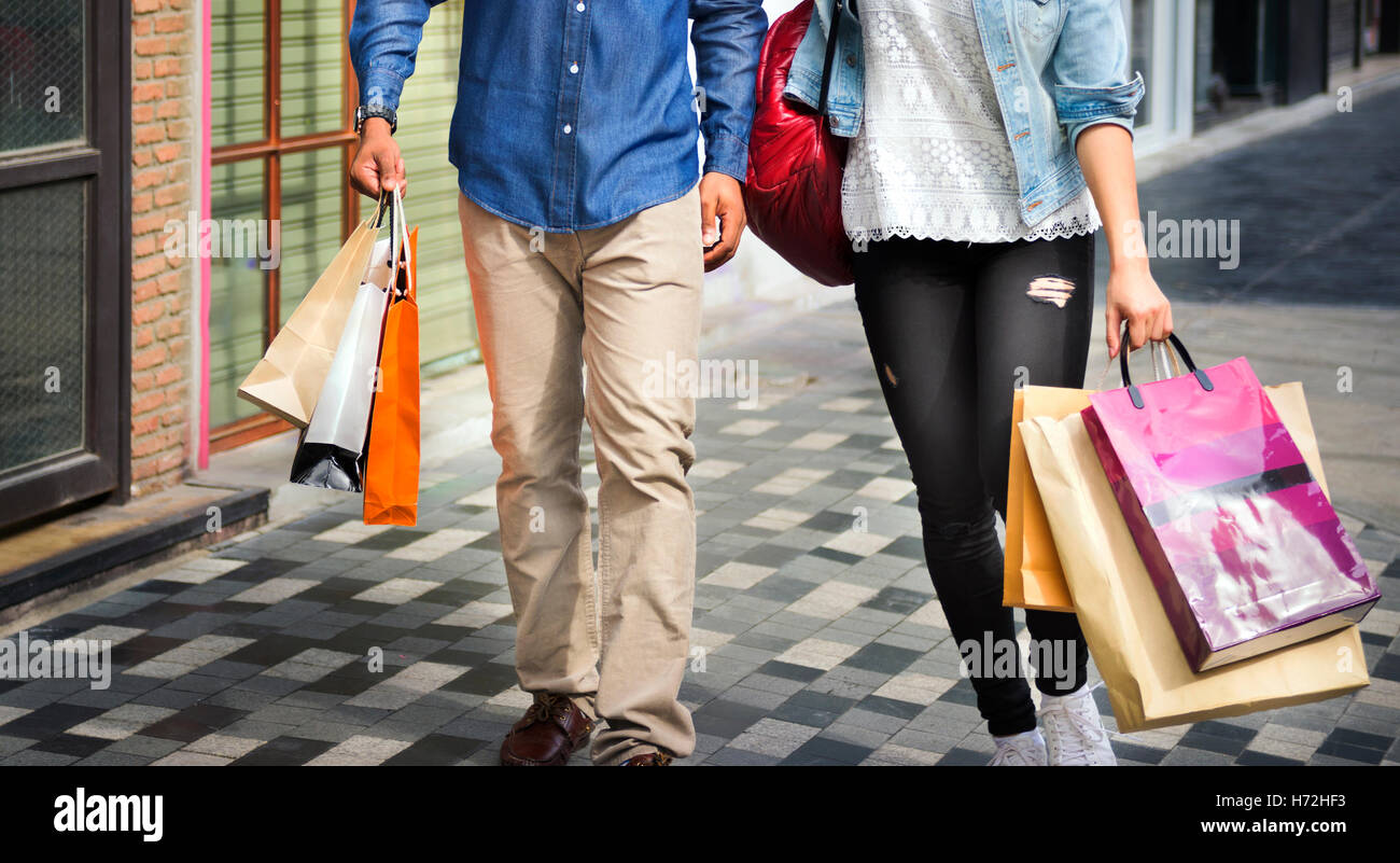 People Shopping Spending Customer Consumerism Concept - Stock Image