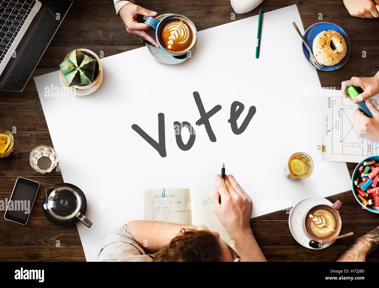 Vote Today Election Politics Concept - Stock Image