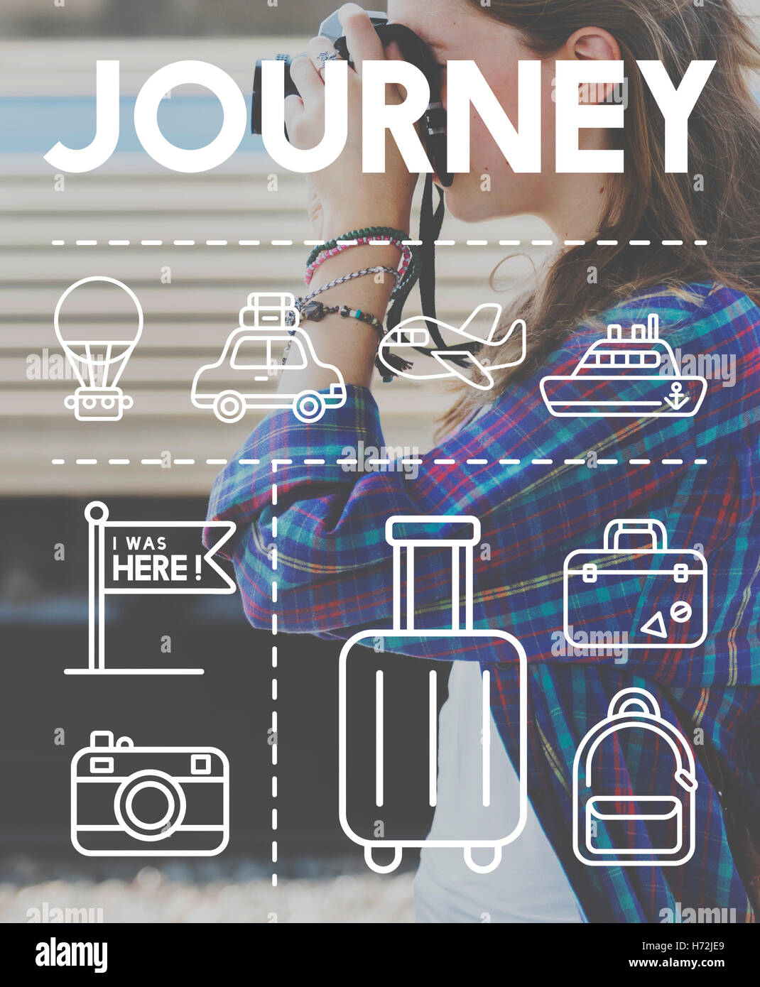 Location Mapping Journey Navigation Concept - Stock Image