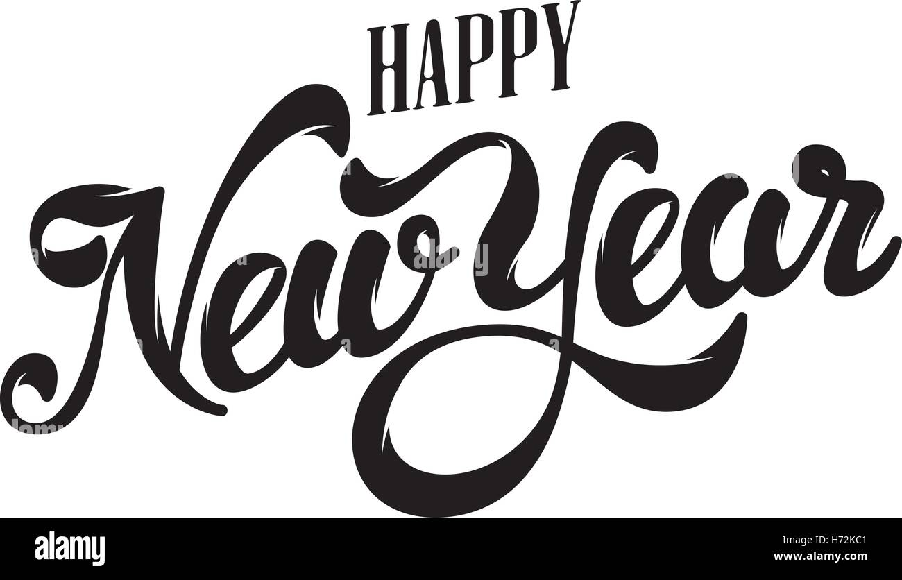 Happy New Year Lettering Design 46