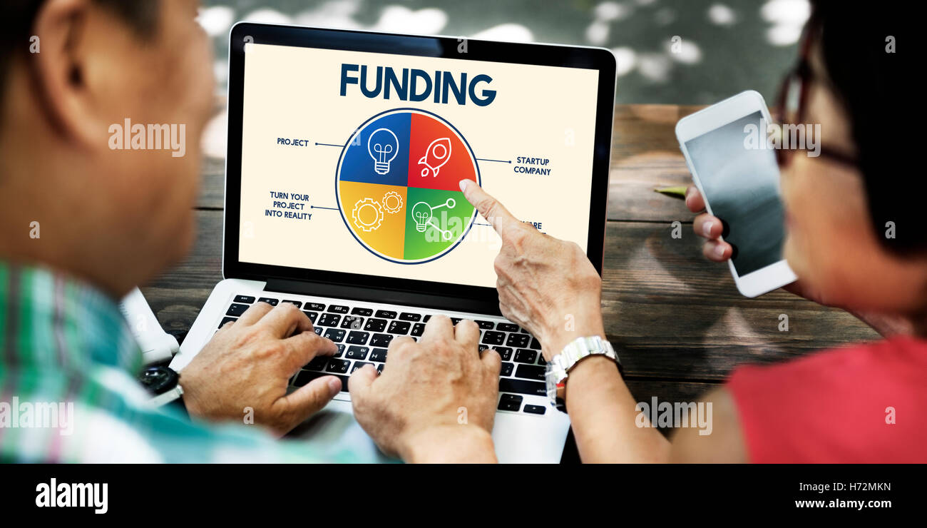 Funding Donation Budget Invest Banking Money Concept - Stock Image