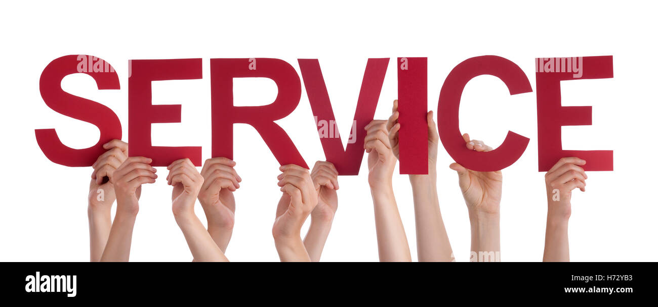 humans human beings people folk persons human human being hand hands service services isolated friendly kind horizontal - Stock Image