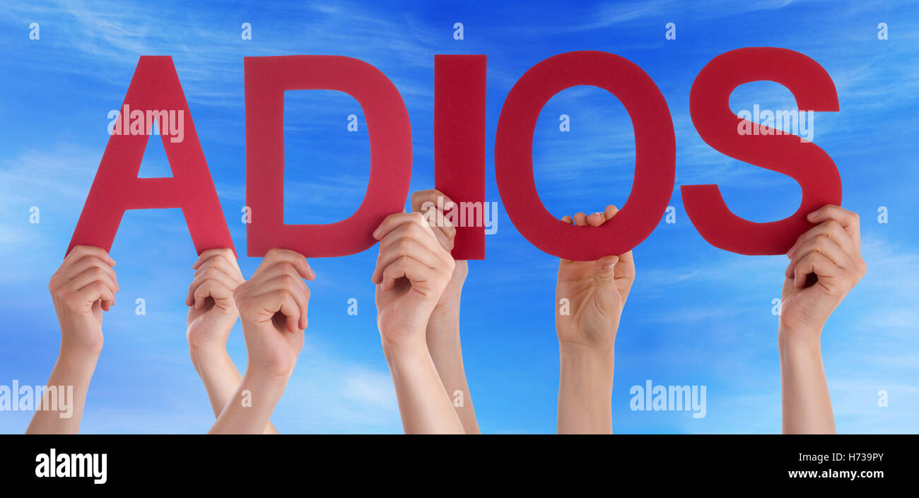abandon go away depart disappear vanishing humans human beings people folk persons human human being hand hands - Stock Image