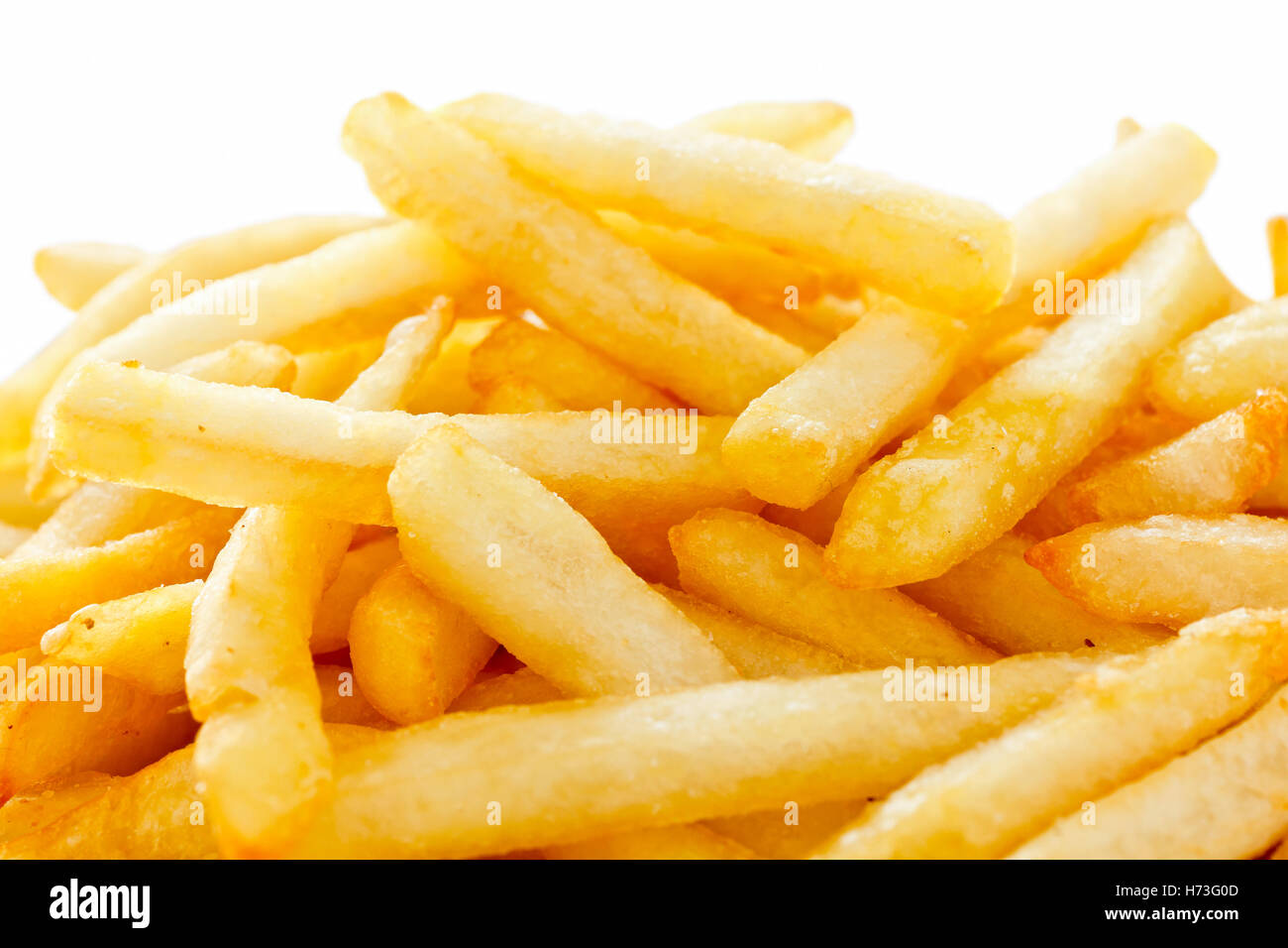 Crispy French fries with ketchup ready to eat Stock Photo