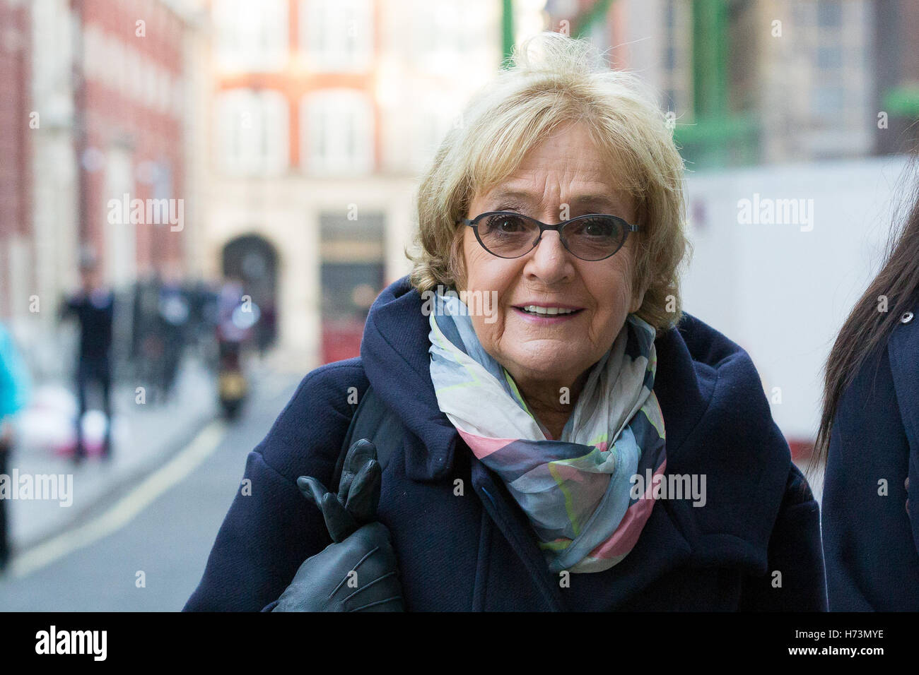 Margaret Hodge MP arrives to speak at the Resolution Foundation about its report on tax policy and post Brexit tax - Stock Image