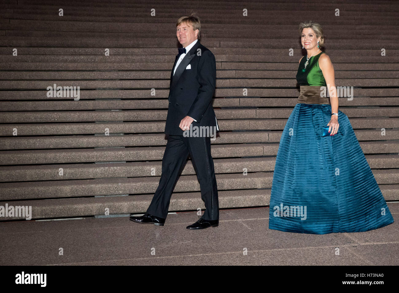 King Willem-Alexander and Queen Maxima of The Netherlands offer an concert by brothers Arthur and Lucas Jussen and - Stock Image