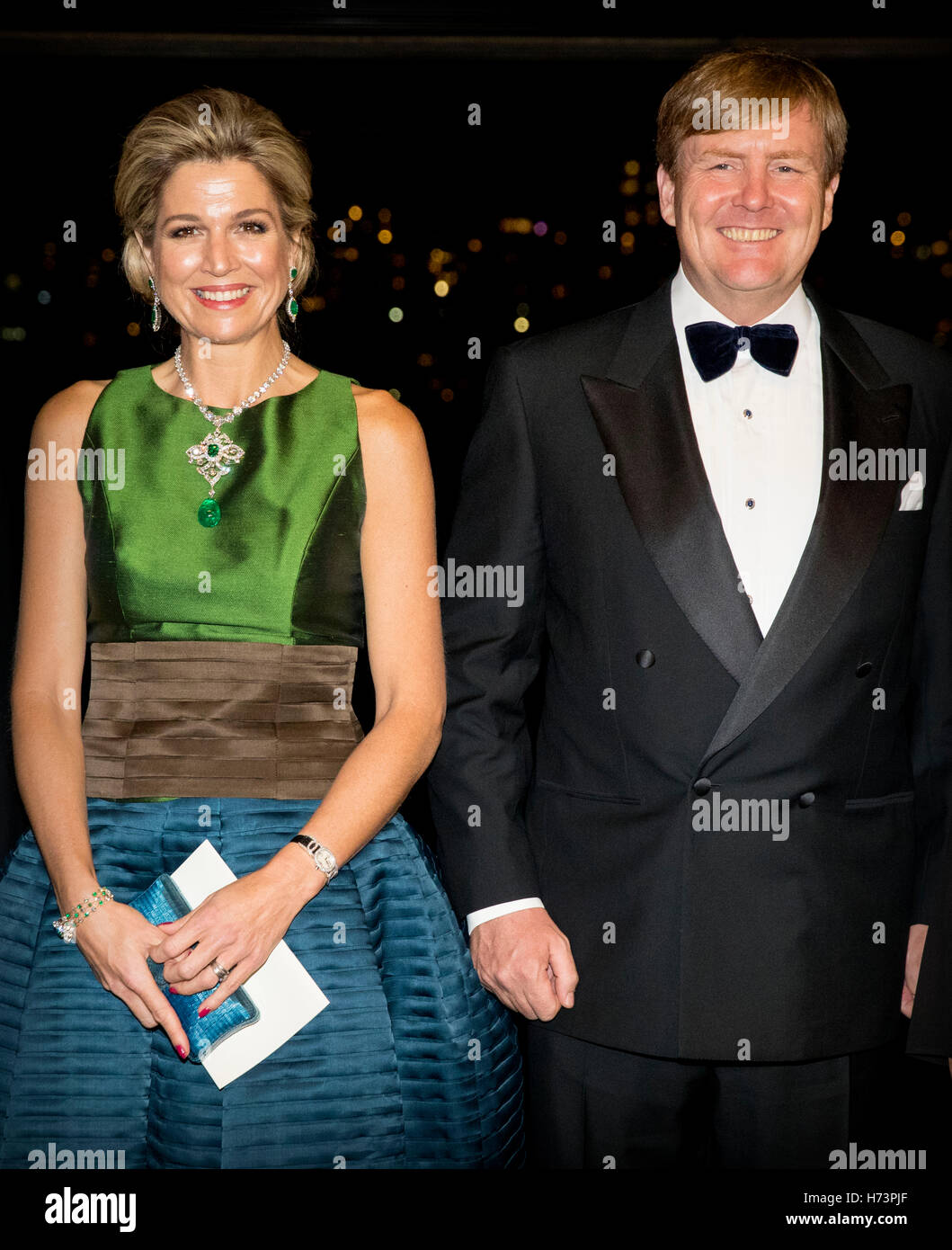 Sydney, Australia. 2nd November, 2016. King Willem-Alexander and Queen Maxima of The Netherlands offer an concert - Stock Image