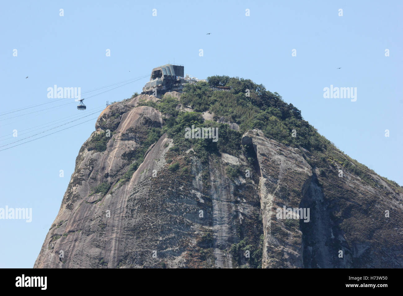 Rio de Janeiro, Brazil, November 02, 2016: Sugar Loaf, one of Rio's top sights seen from the Leme Fort.  Summer - Stock Image