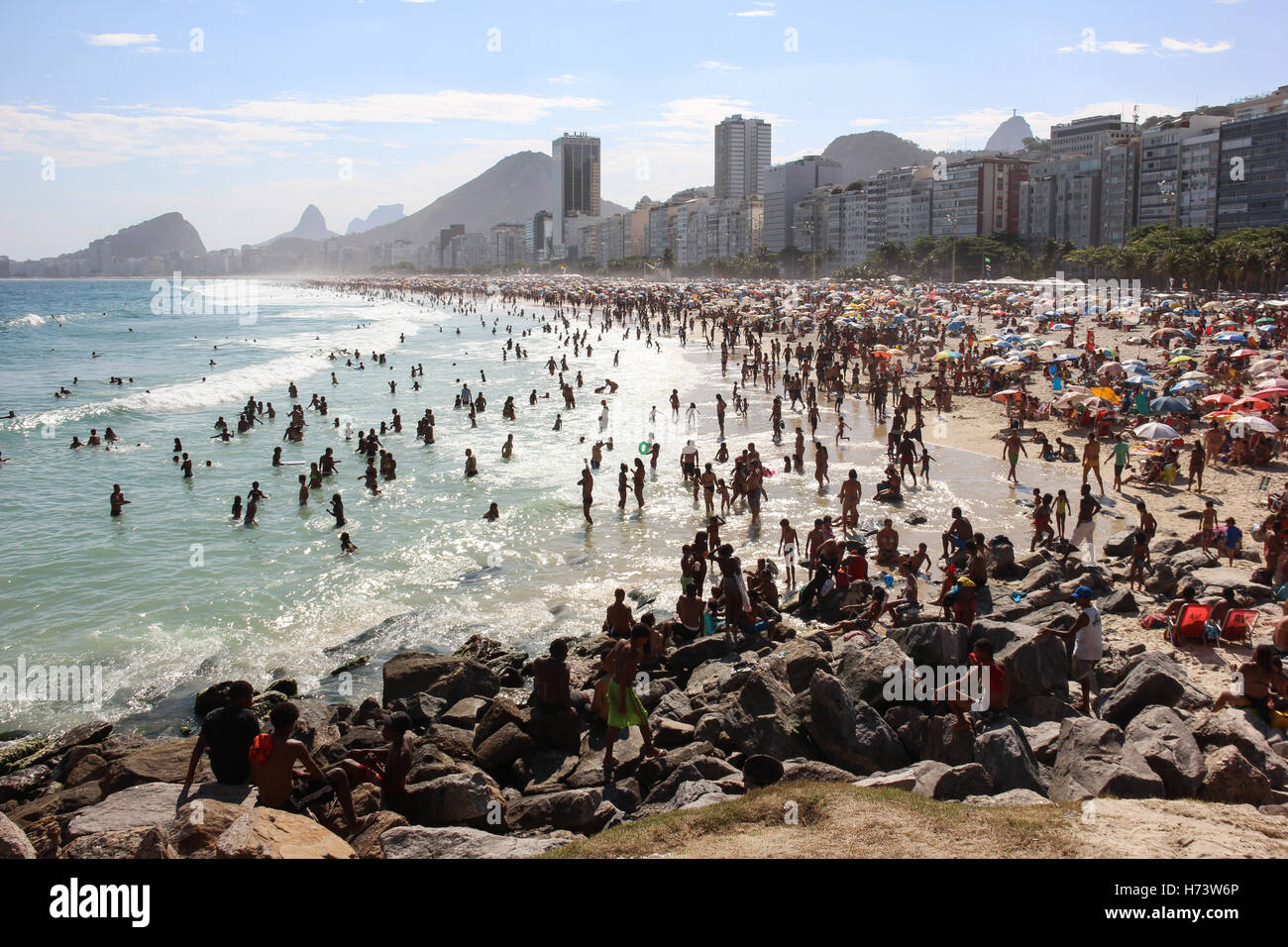 Rio de Janeiro, Brazil, November 02, 2016: Summer officially begins in Brazil only on 21 December, but the beaches - Stock Image