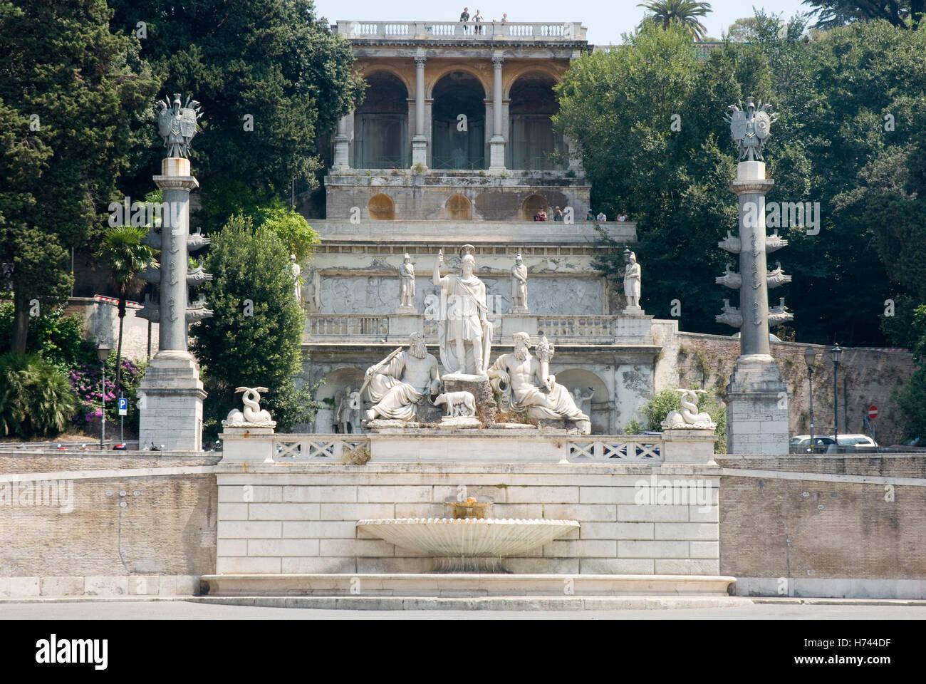 Monte Pincio, Piazza del Popolo, Rome, Italy, Europe - Stock Image