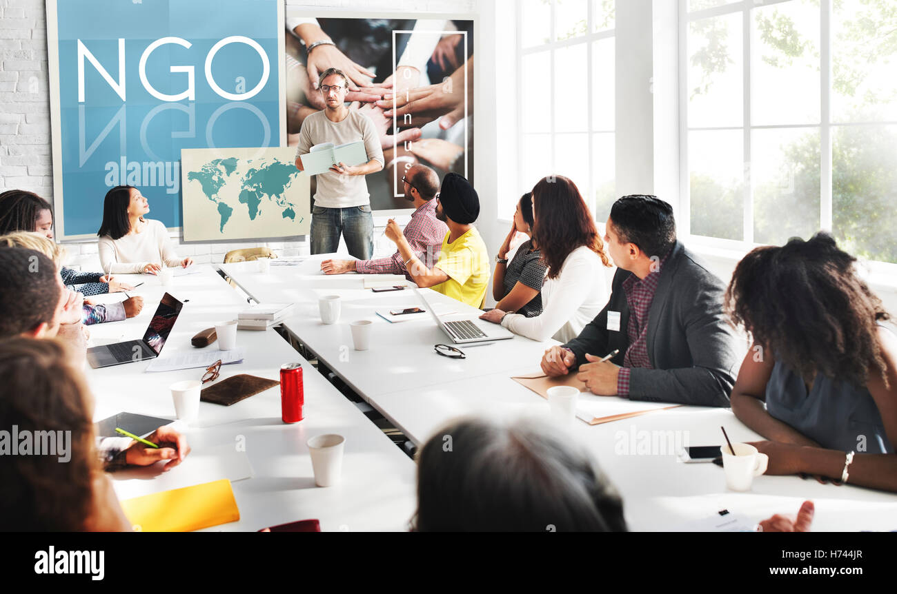 NGO Contribution Corporate Foundation Nonprofit Concept - Stock Image