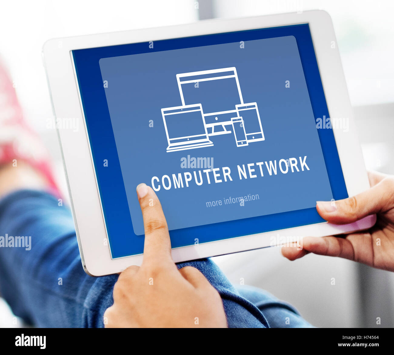 Computer Network Digital Design Innovation Concept Stock Photo