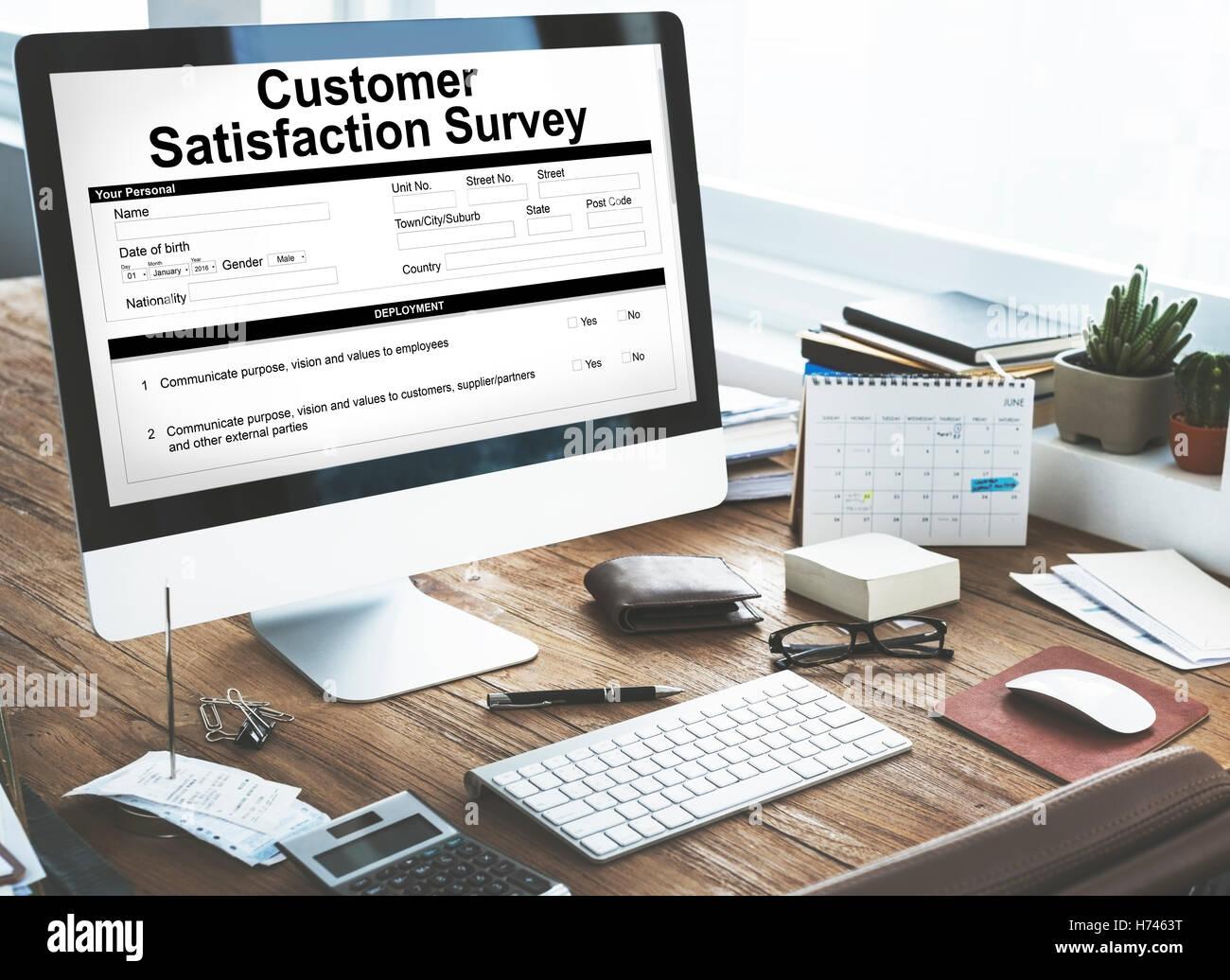 Customer Satisfaction Survey Client Service Concept - Stock Image