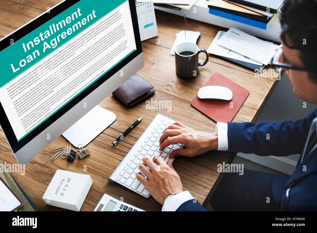 Installment Loan Agreement Credit FInance Debt Concept - Stock Image