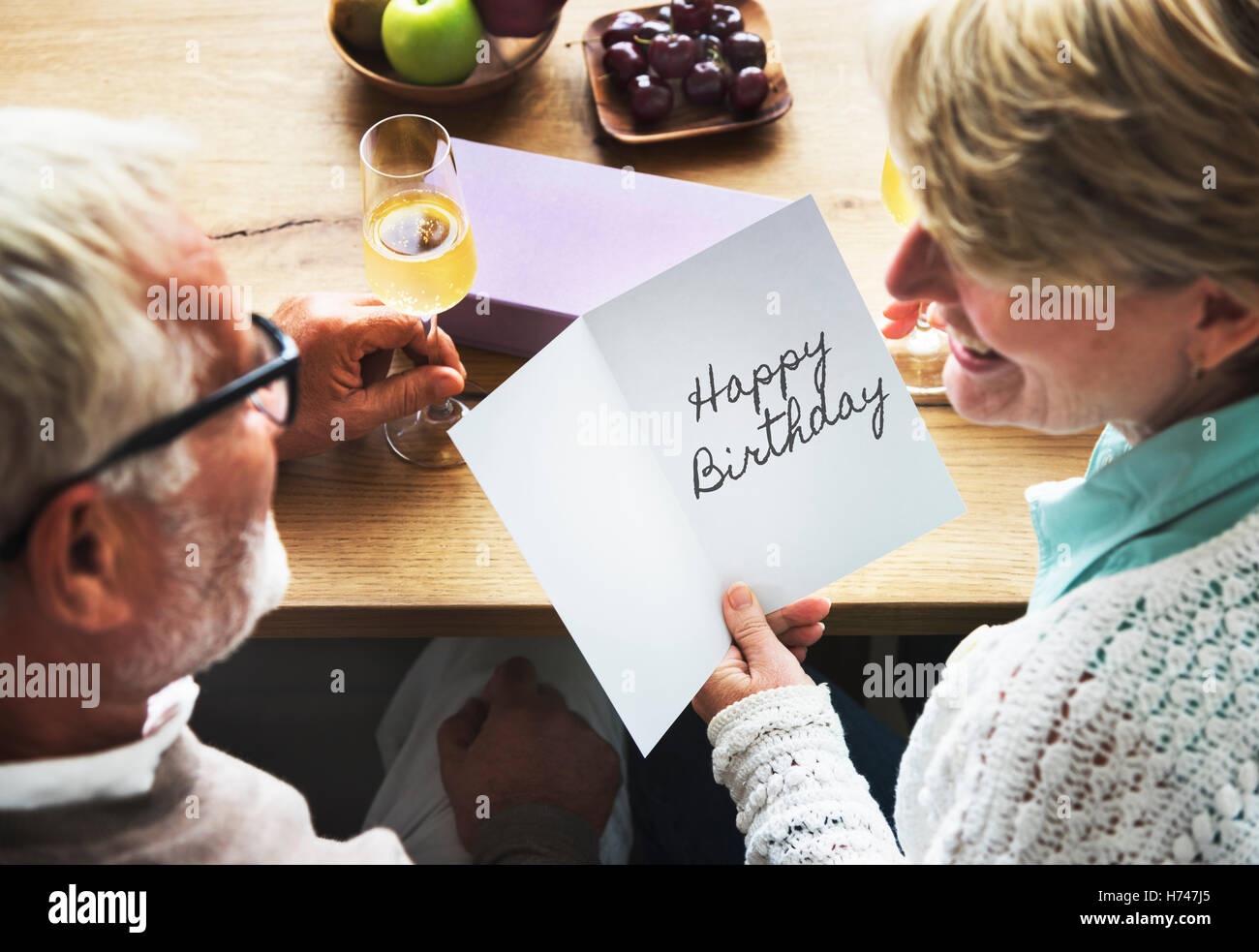 HBD Happy Birthday Celebration Congratulation Party Concept - Stock Image