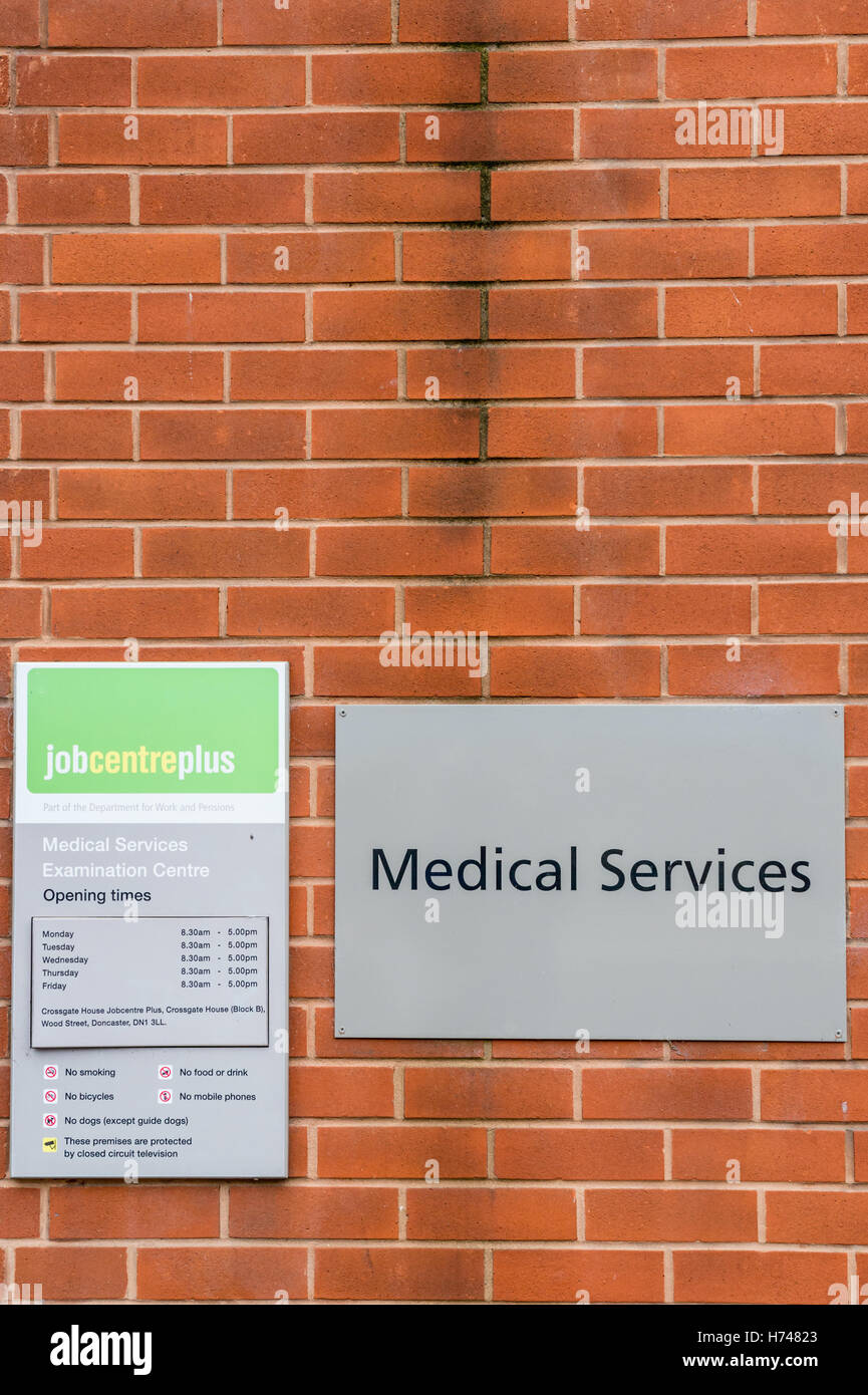 Medical Services Examination Centre at a Job Centre Plus Office, Doncaster Stock Photo