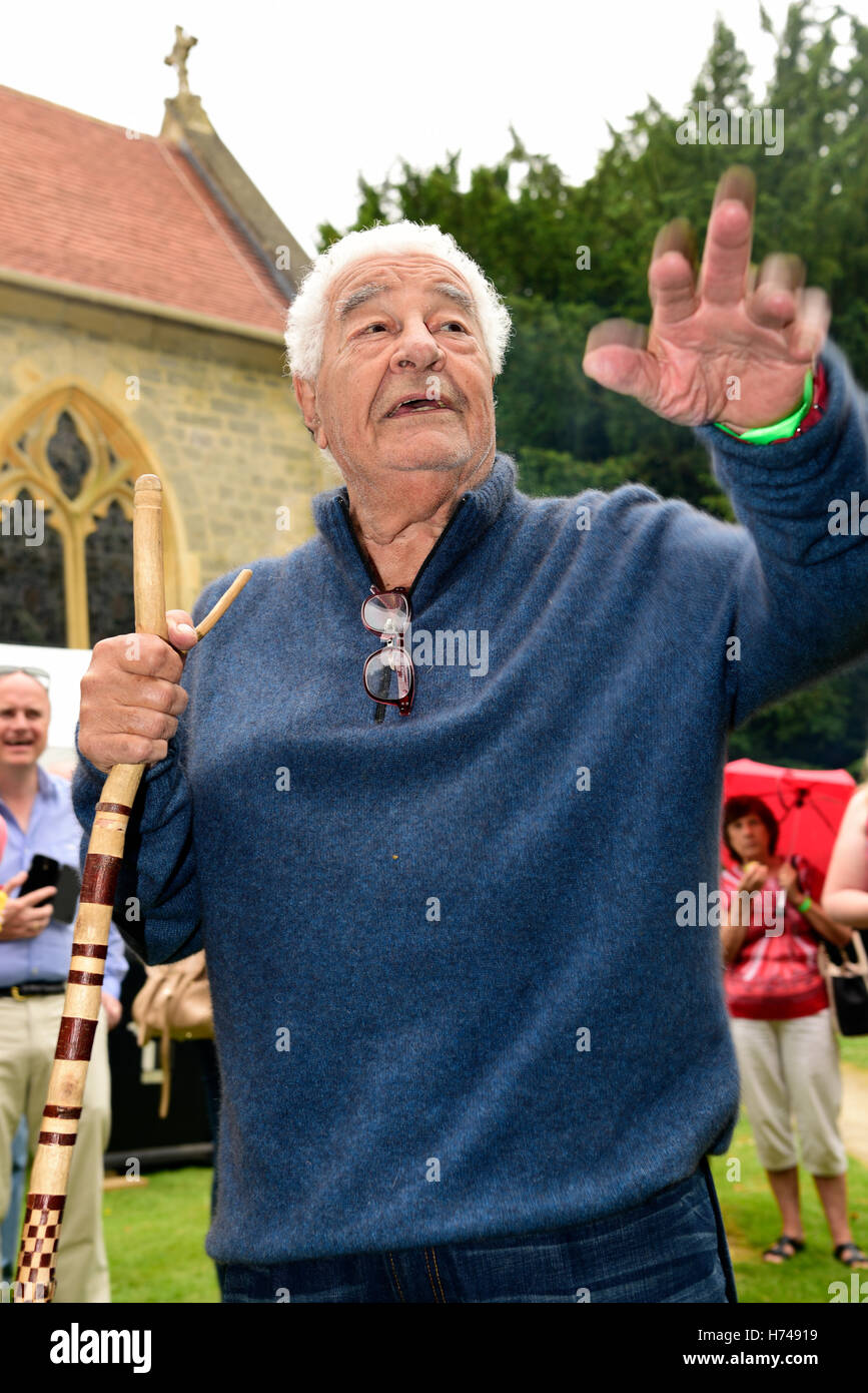 Celebrity chef Antonio Carluccio at the opening of Bramshott Open Gardens, near Liphook, Hampshire, UK, June 2016. - Stock Image
