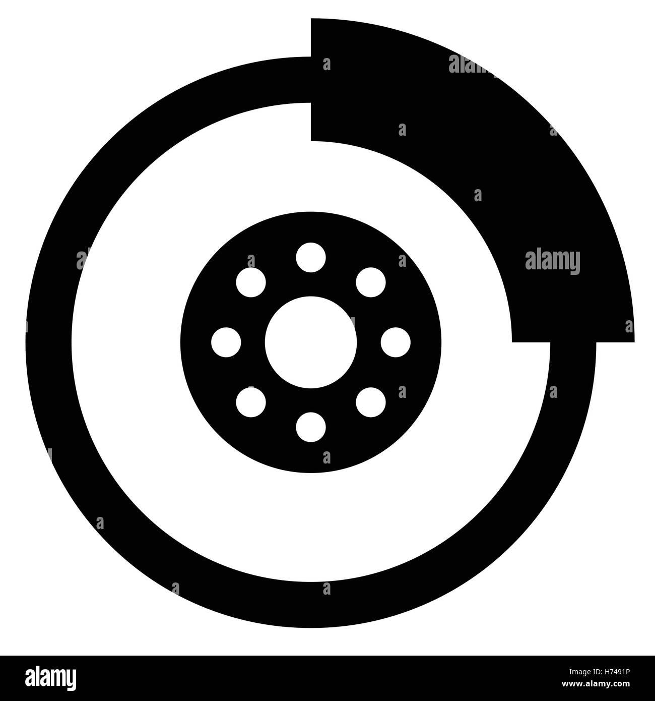 Brake disc car, motorcycle component symbol - Car, motor service ...
