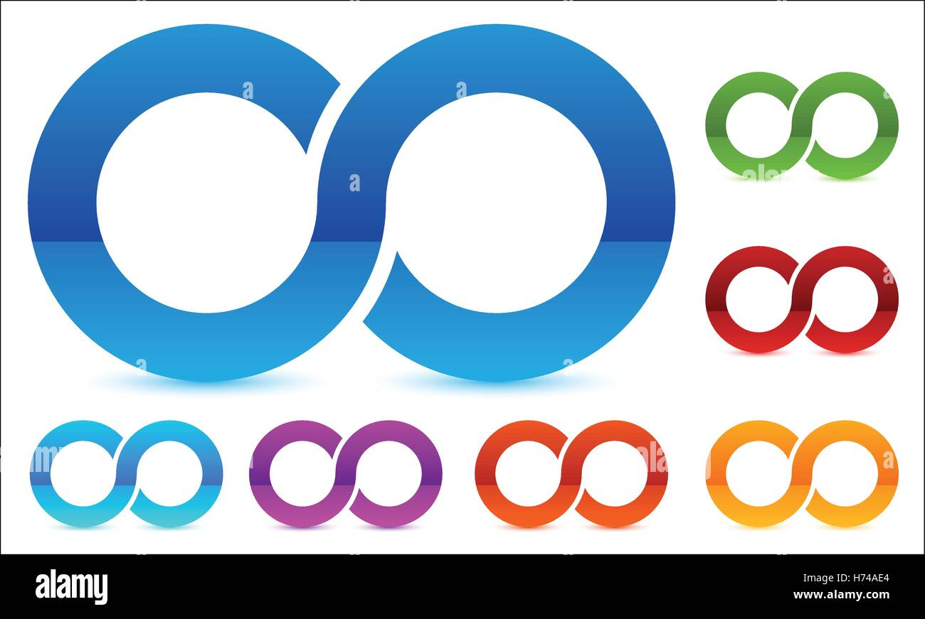 Infinity Symbol In Several Color Icon For Continuity Loop Endless
