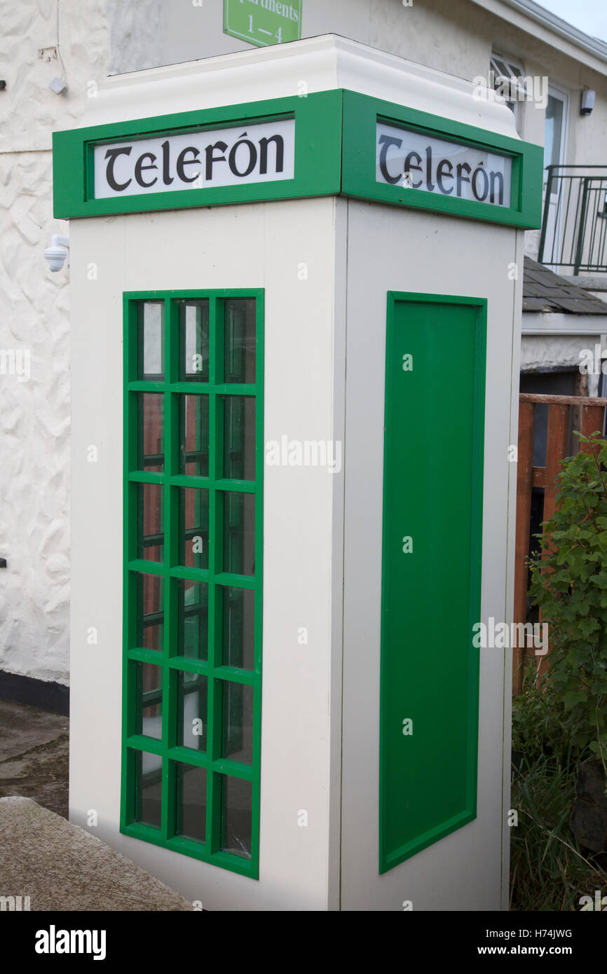 Telefon - Telephone Box, Tully; Connemara; Galway; Ireland - Stock Image