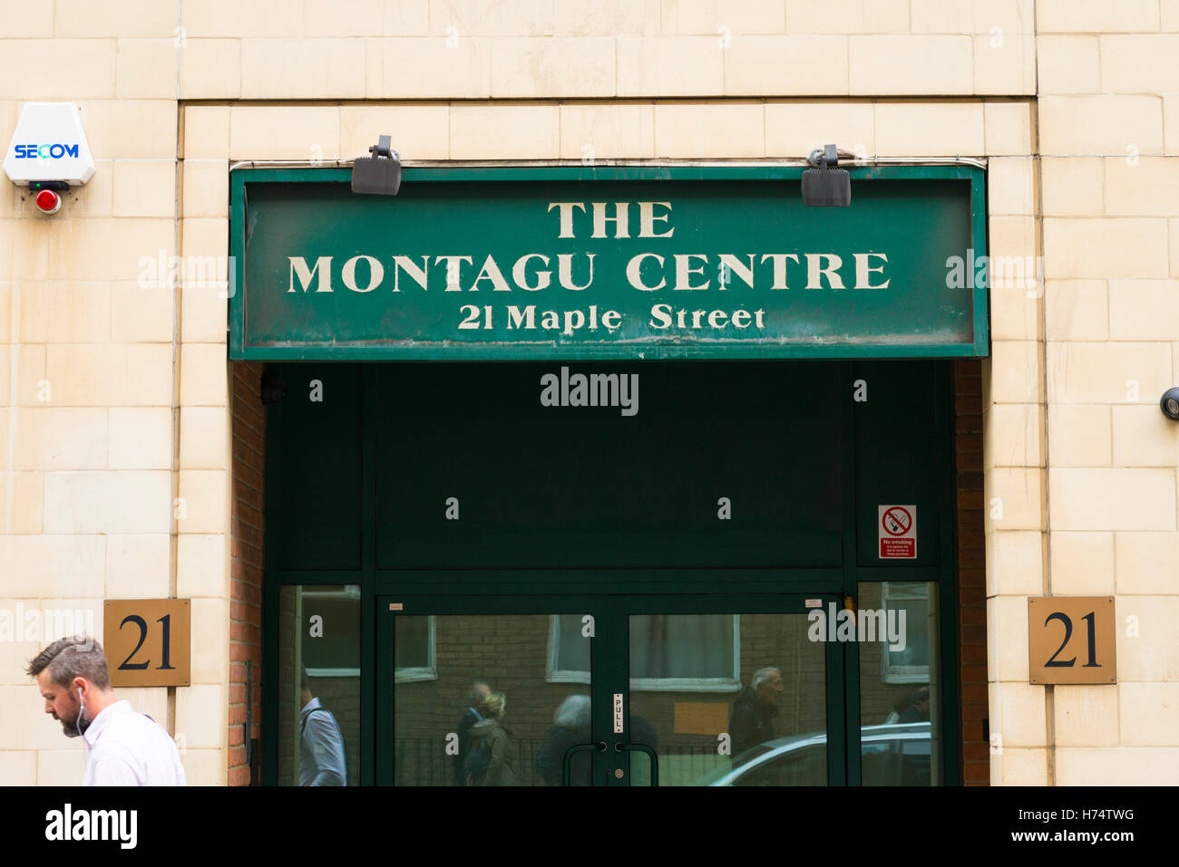 London West End Montagu Centre HQ headquarters ULPS Union Liberal Progressive Synagogues opened Lily Montagu Founder - Stock Image