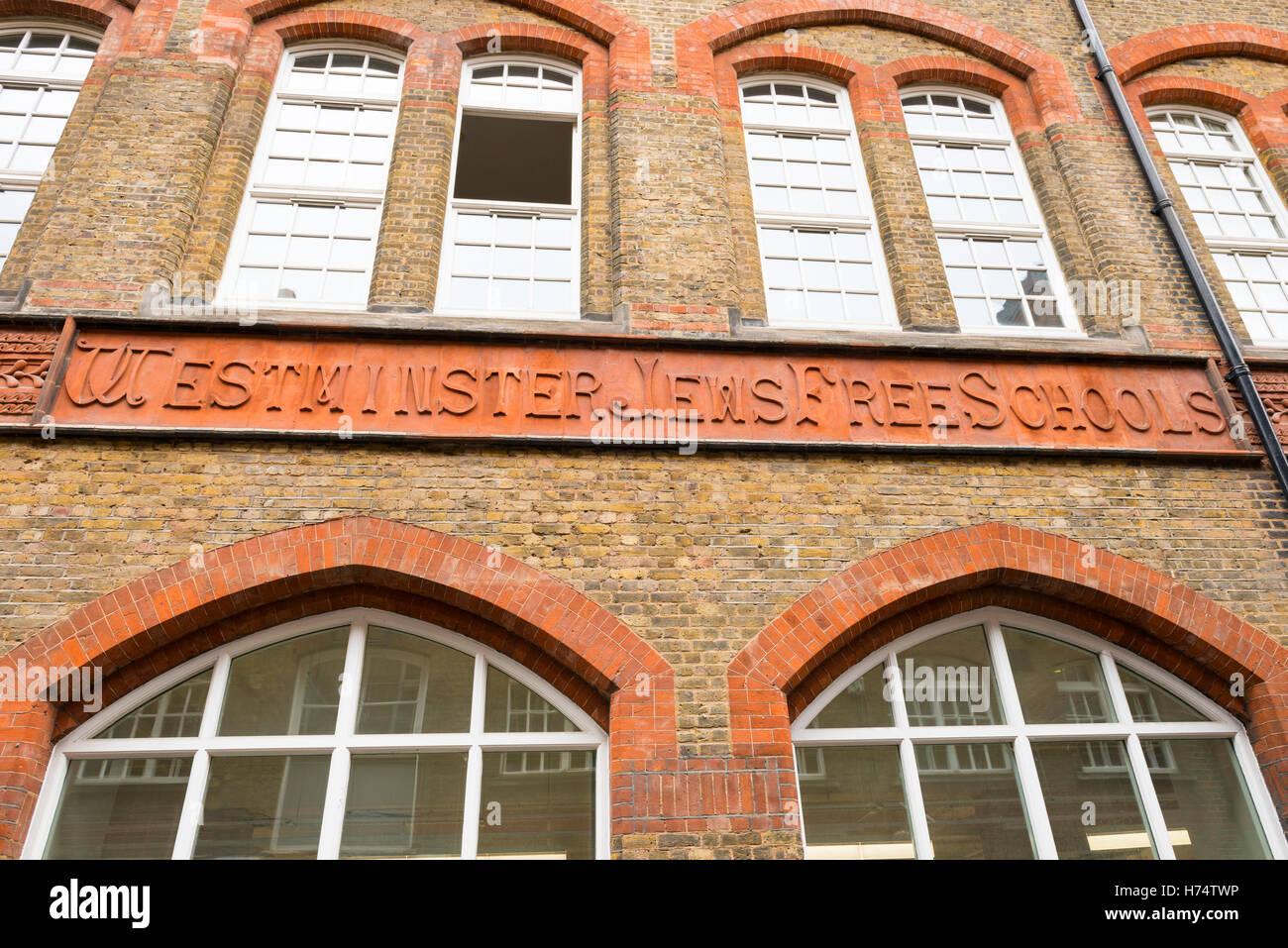 West End site of the Westminster Jews Free School est 1811 as one of the first free schools in London finally closed - Stock Image