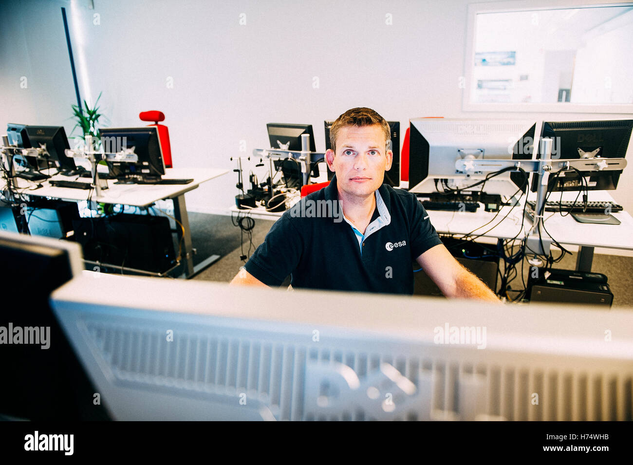 The Danish astronaut Andreas Mogensen was selected to become the first Danish astronaut by the European Space Agency. - Stock Image