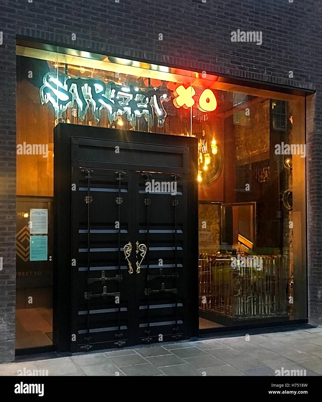 street xo restaurant london - Stock Image