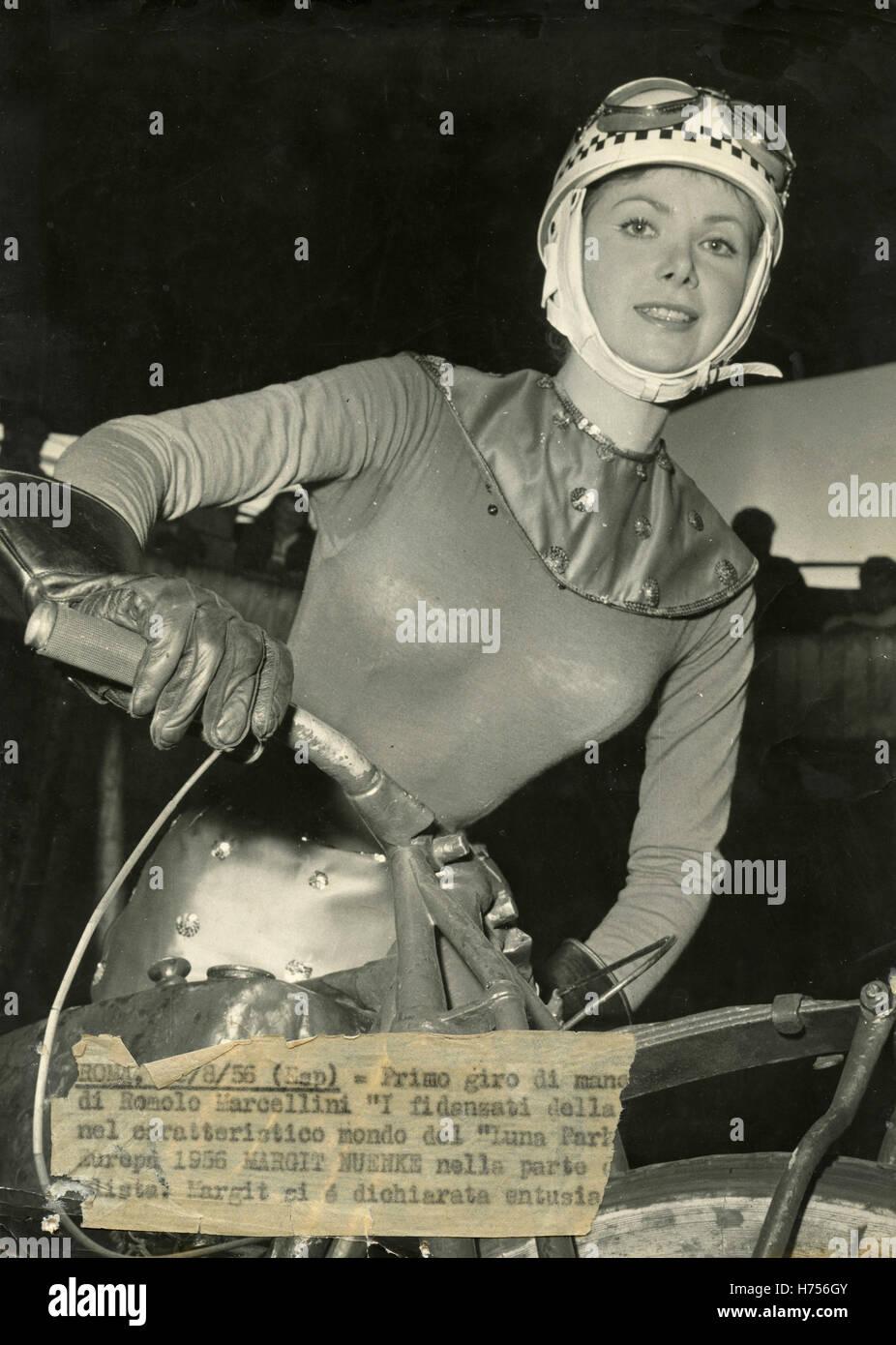 German actress Margit Nünke in the film The boyfriends of death, Italy 1956 - Stock Image