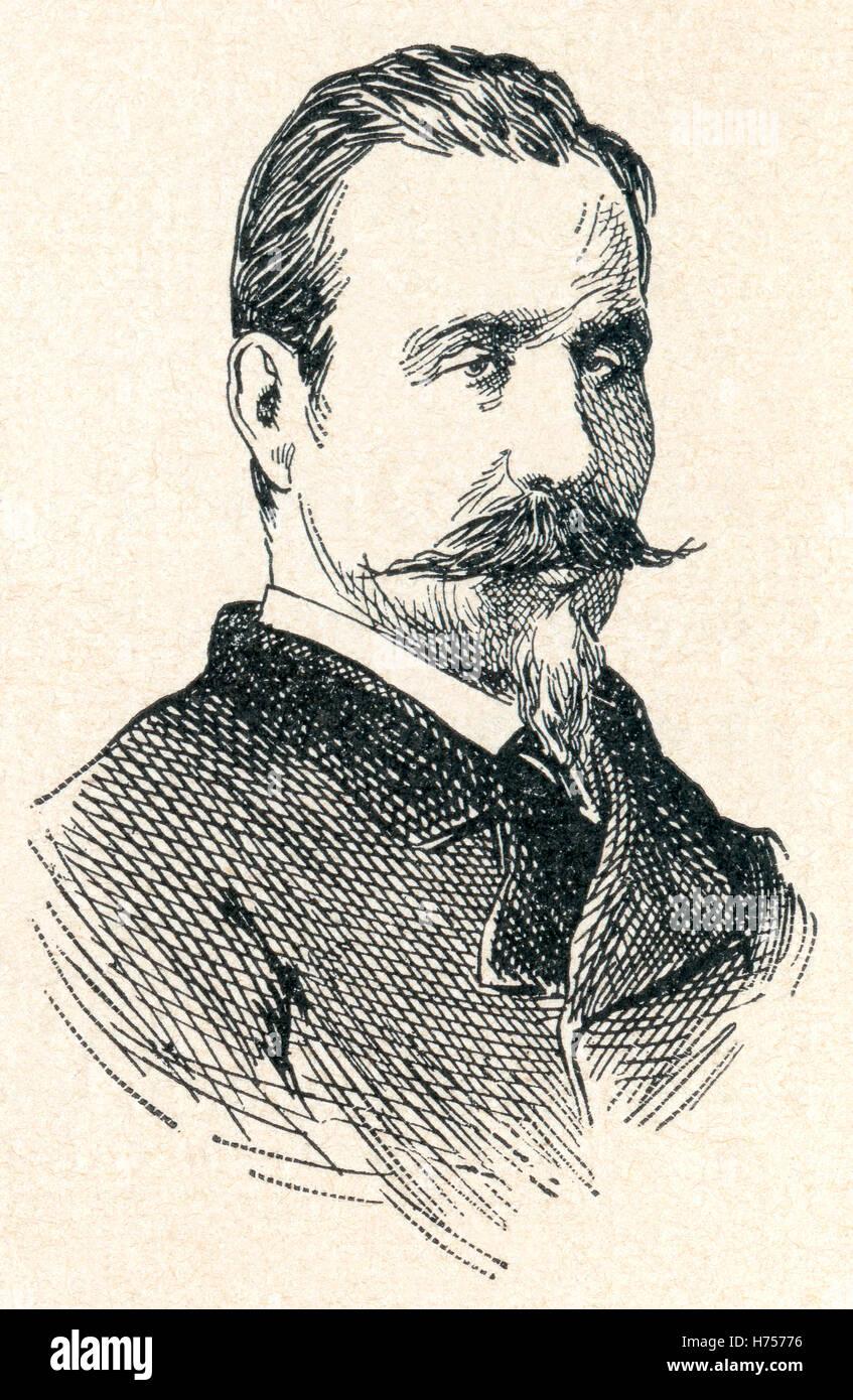 Nicolás Estévanez Murphy, 1838 - 1914.  Spanish military officer, politician and poet. - Stock Image
