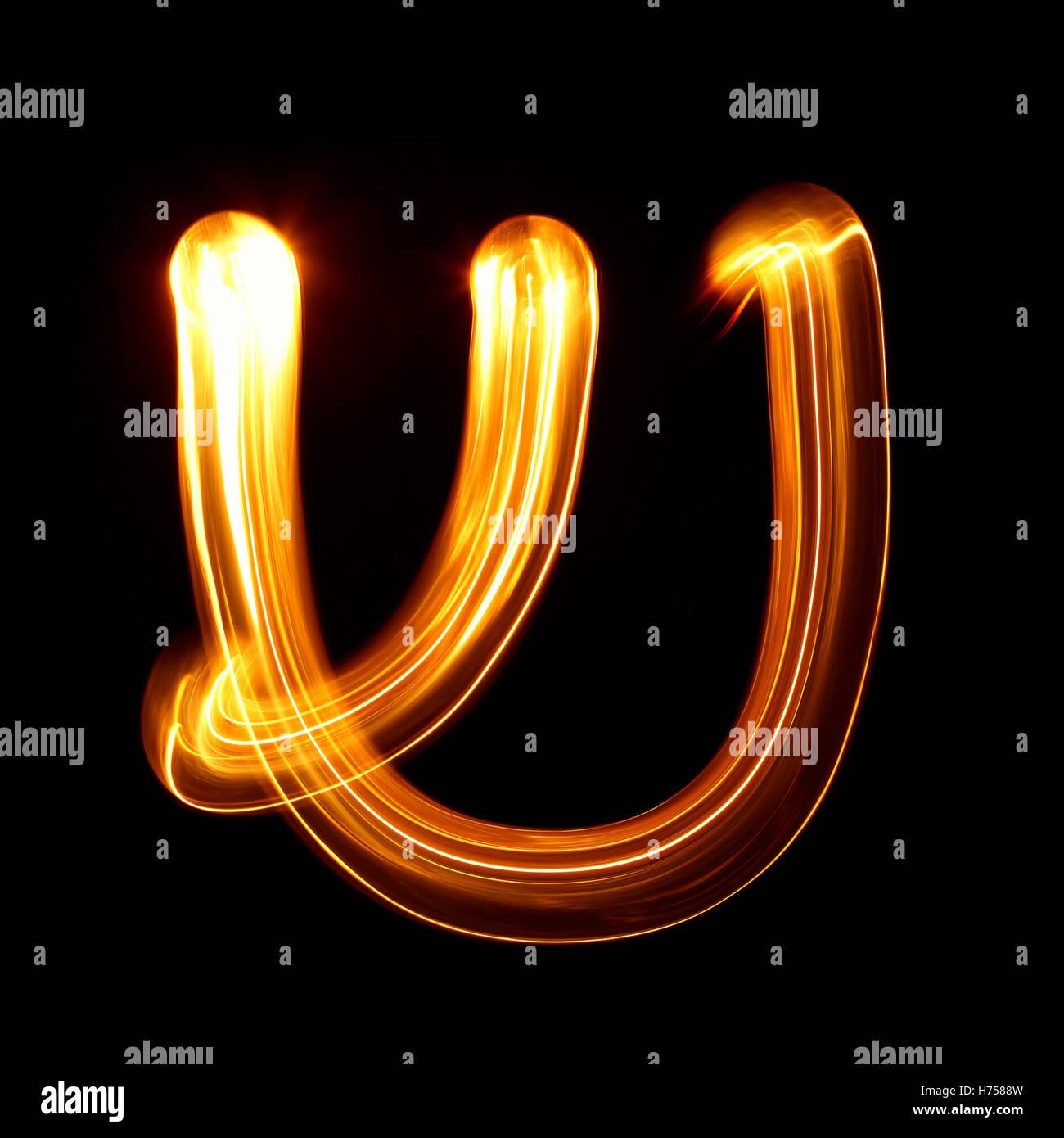 Shin - Letters of hebrew alphabet - Stock Image