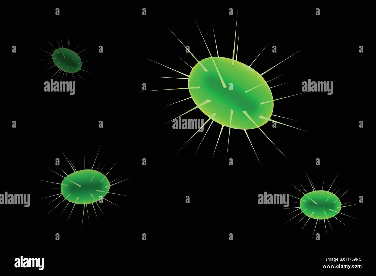 bacteria, bacteria background, virus, virus background, - Stock Image
