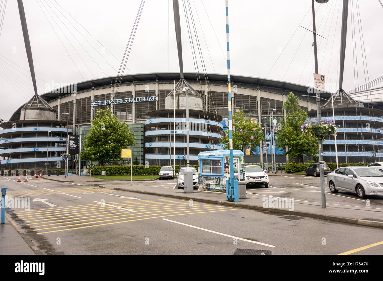 Commonwealth Games and is now home to one of the Premier League football clubs, Manchester City based in Manchester. - Stock Image