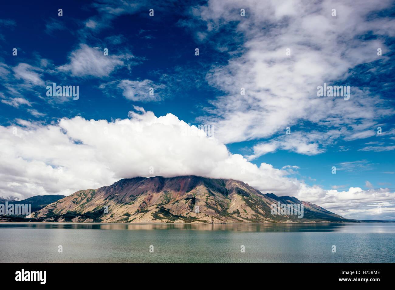 Kluane Lake in Yukon Territory, Canada - Stock Image
