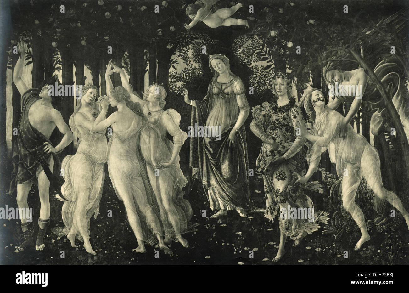 The Spring, painting by Botticelli, Italy - Stock Image
