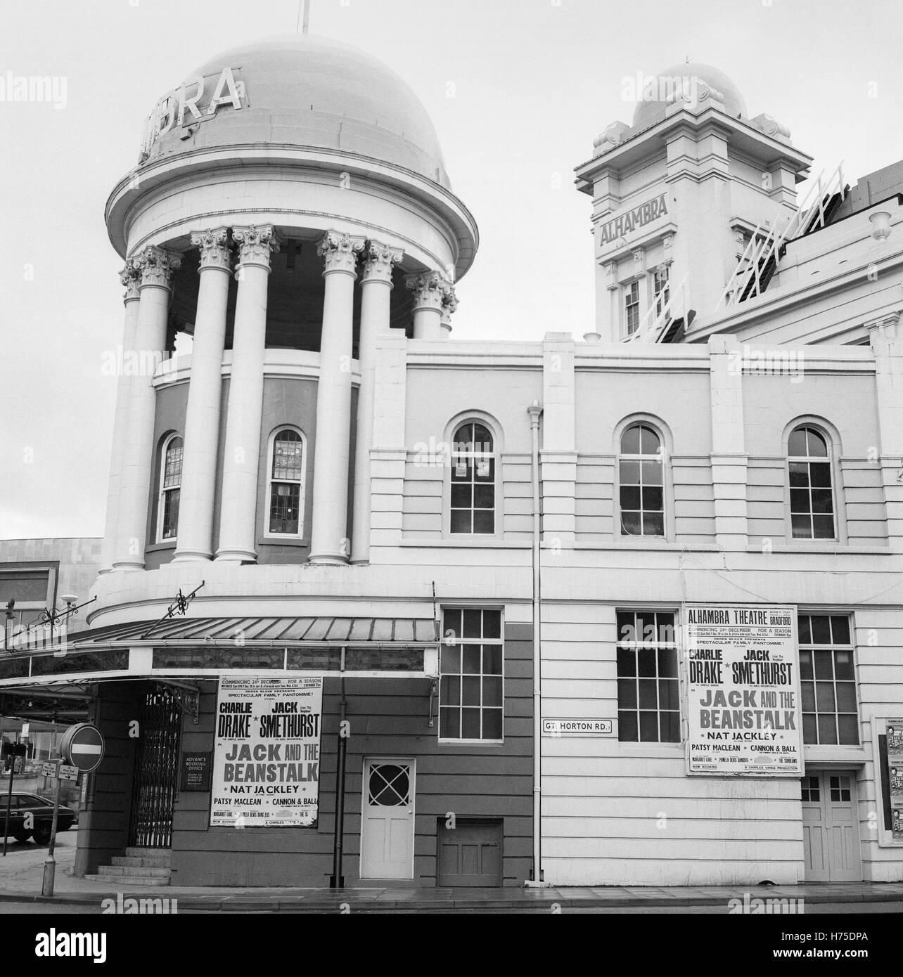 Alhambra Theatre Bradford West Yorkshire 1975 England UK - Stock Image