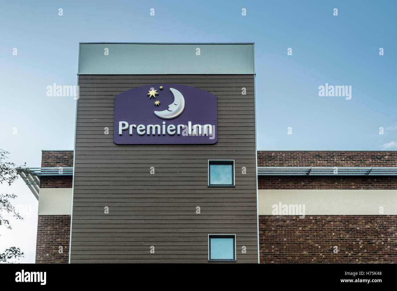 exterior of the Premier Inn Hotel at Hayling Island, Hampshire UK Stock Photo