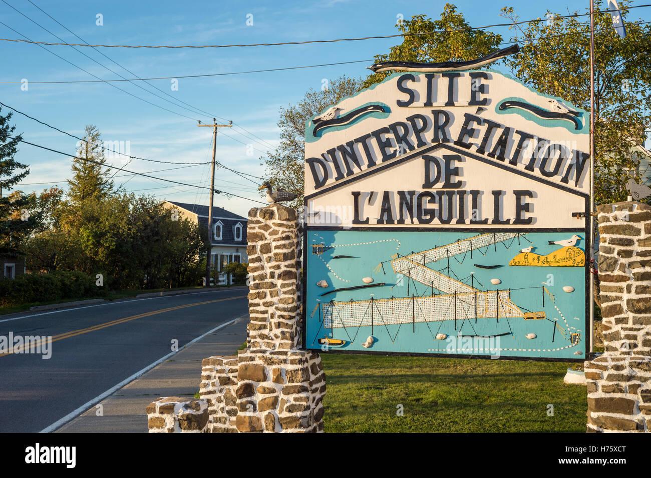 Eel interpretive Centre in Kamouraska, Quebec, Canada - Stock Image