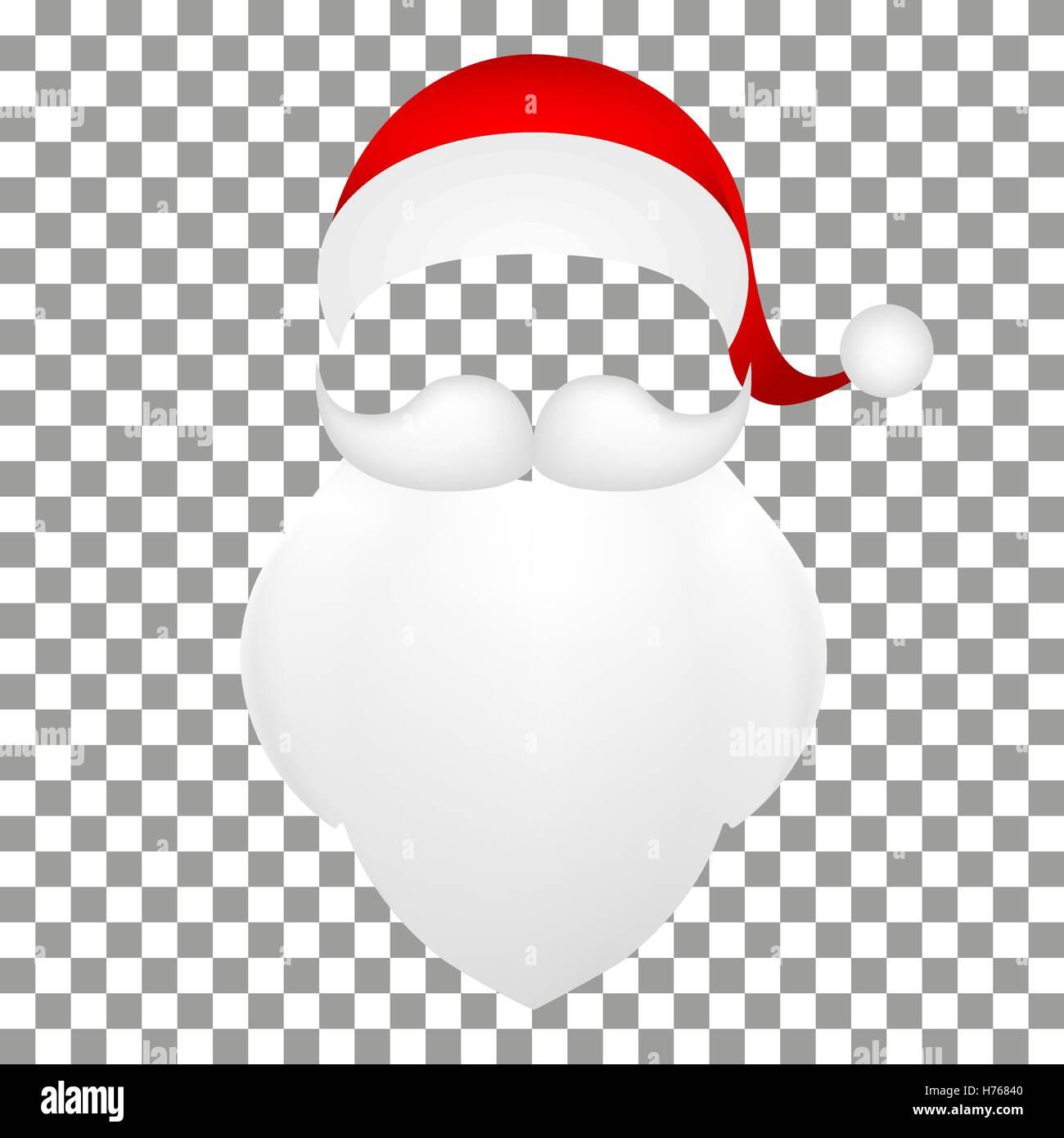 Template Santa Claus His Mustache With A Beard Stock Vector Art