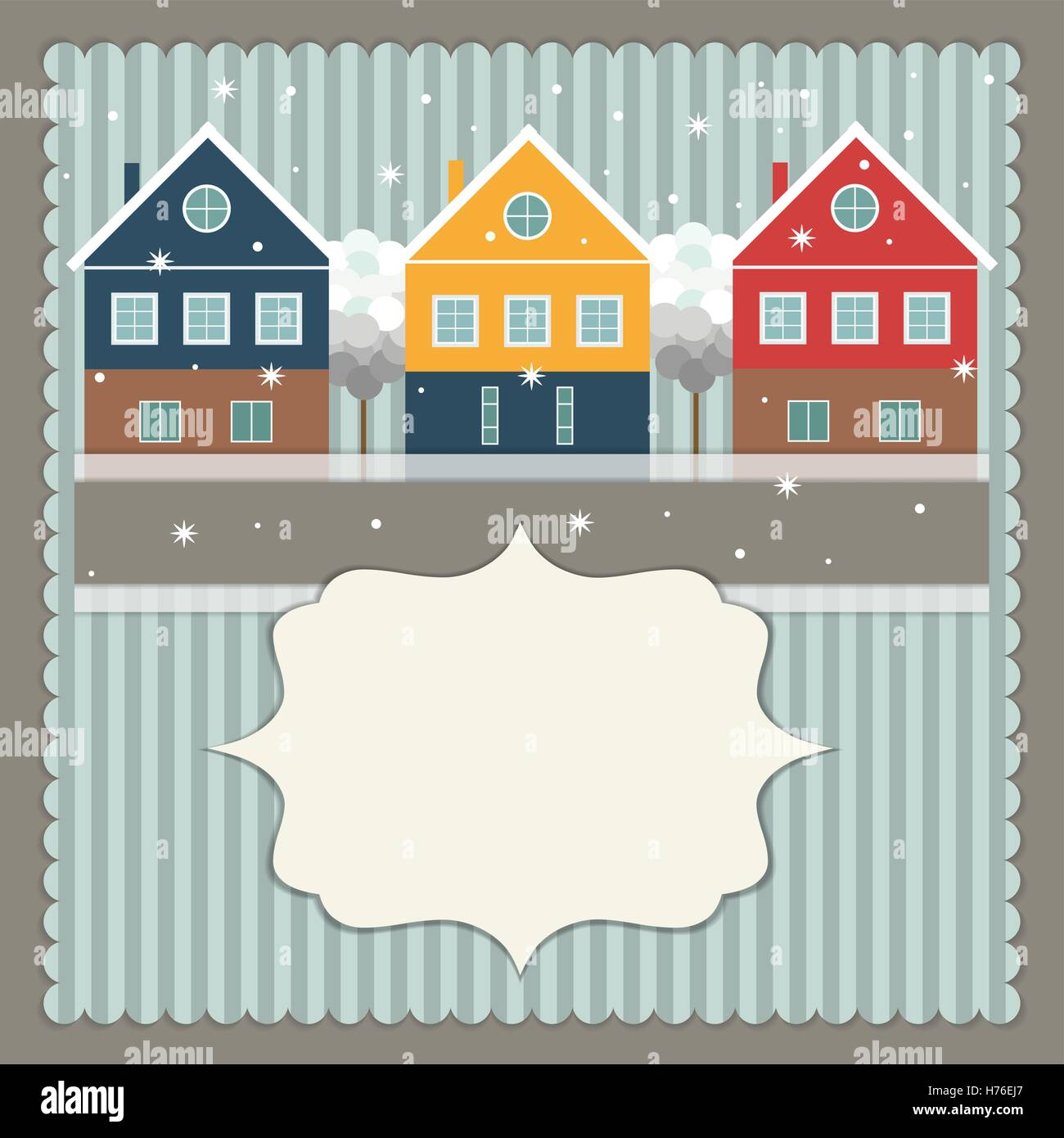 Real estate christmas card colorful stock photos real estate real estate christmas card stock image m4hsunfo